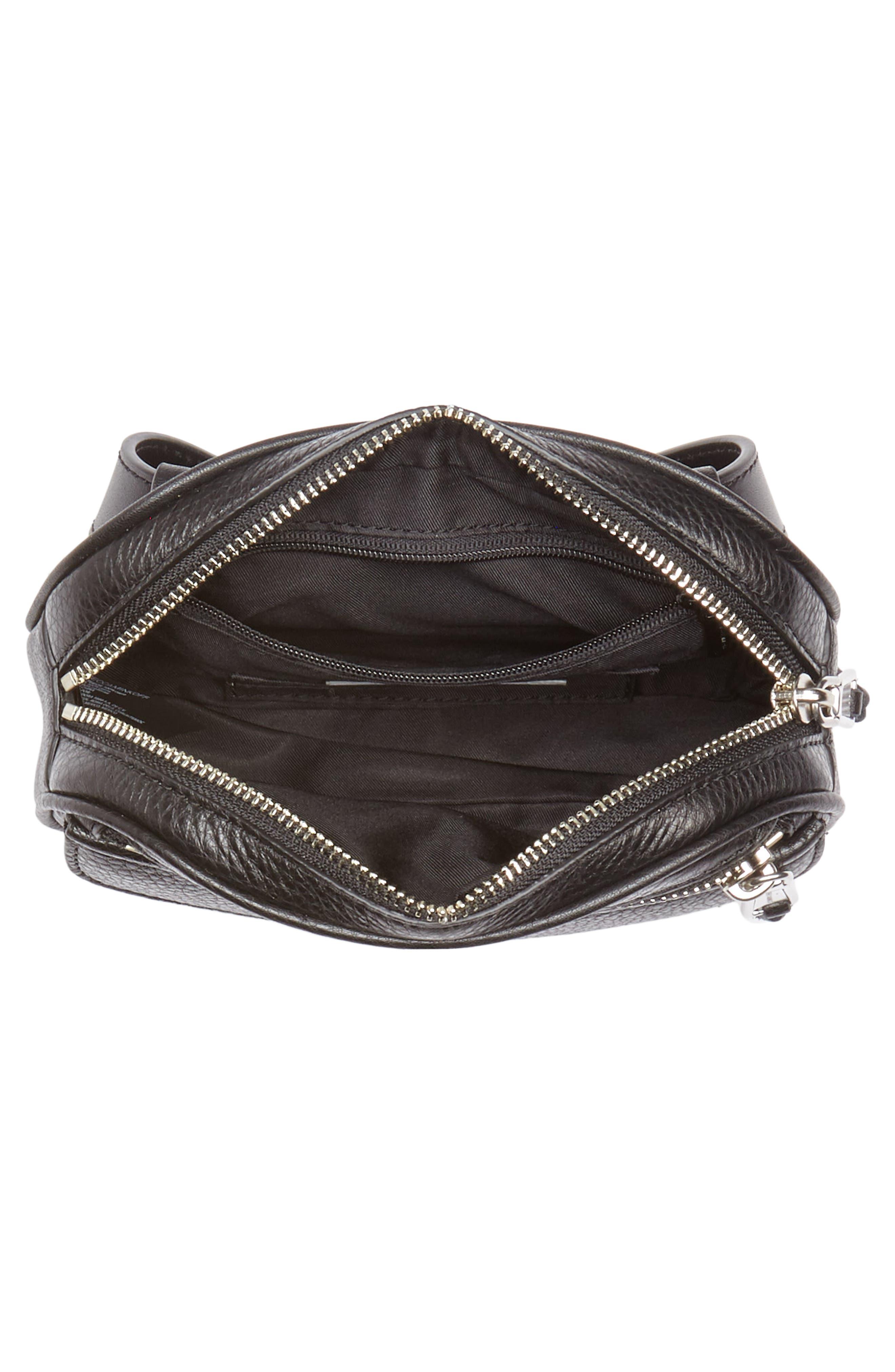 Blythe Leather Belt Bag,                             Alternate thumbnail 5, color,                             BLACK