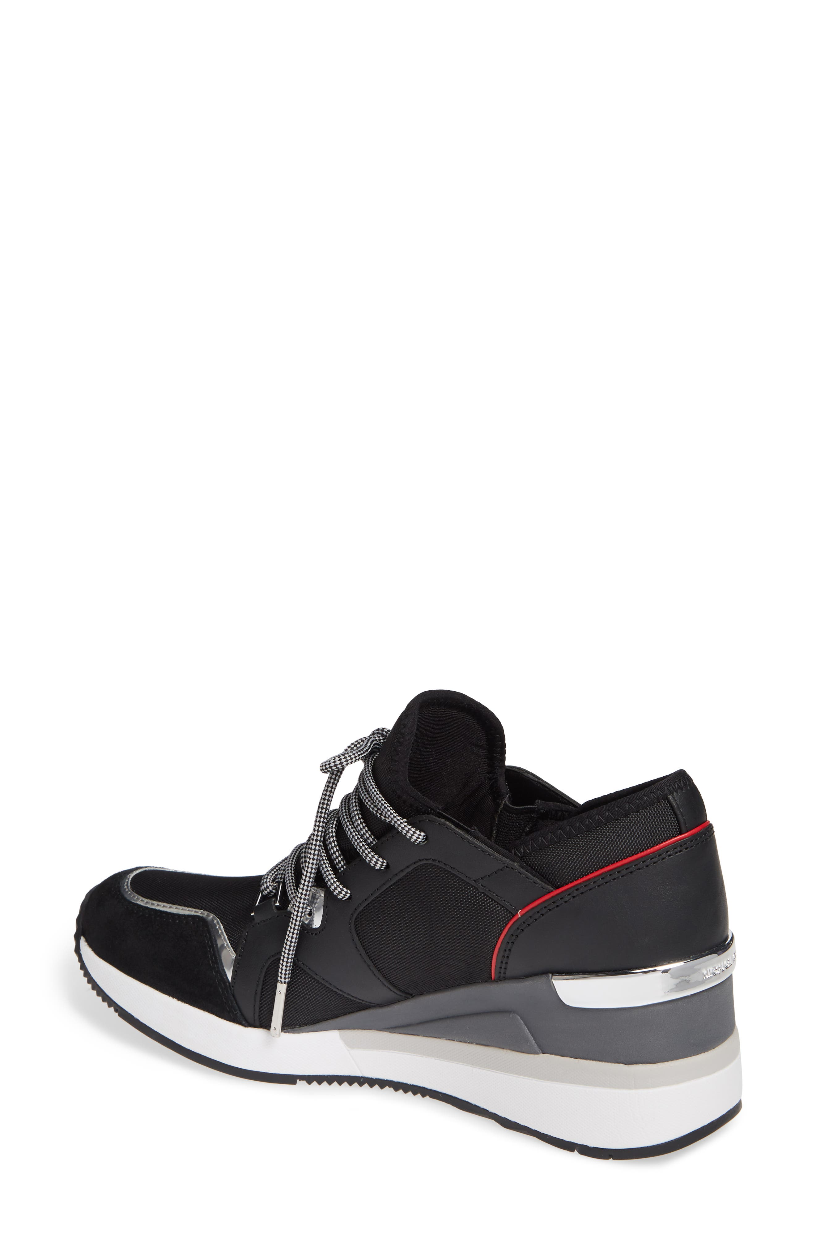 Scout Trainer Wedge Sneaker,                             Alternate thumbnail 2, color,                             001
