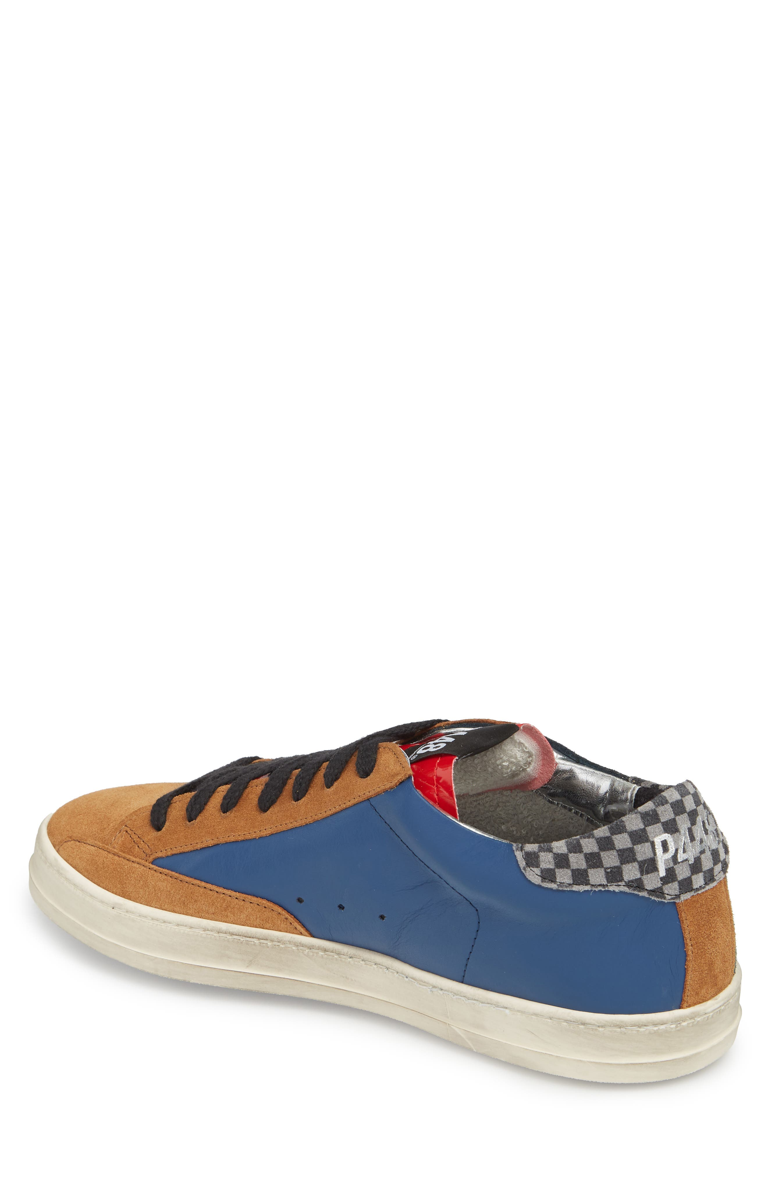 John Mix Low Top Sneaker,                             Alternate thumbnail 2, color,                             FOREST BLUE