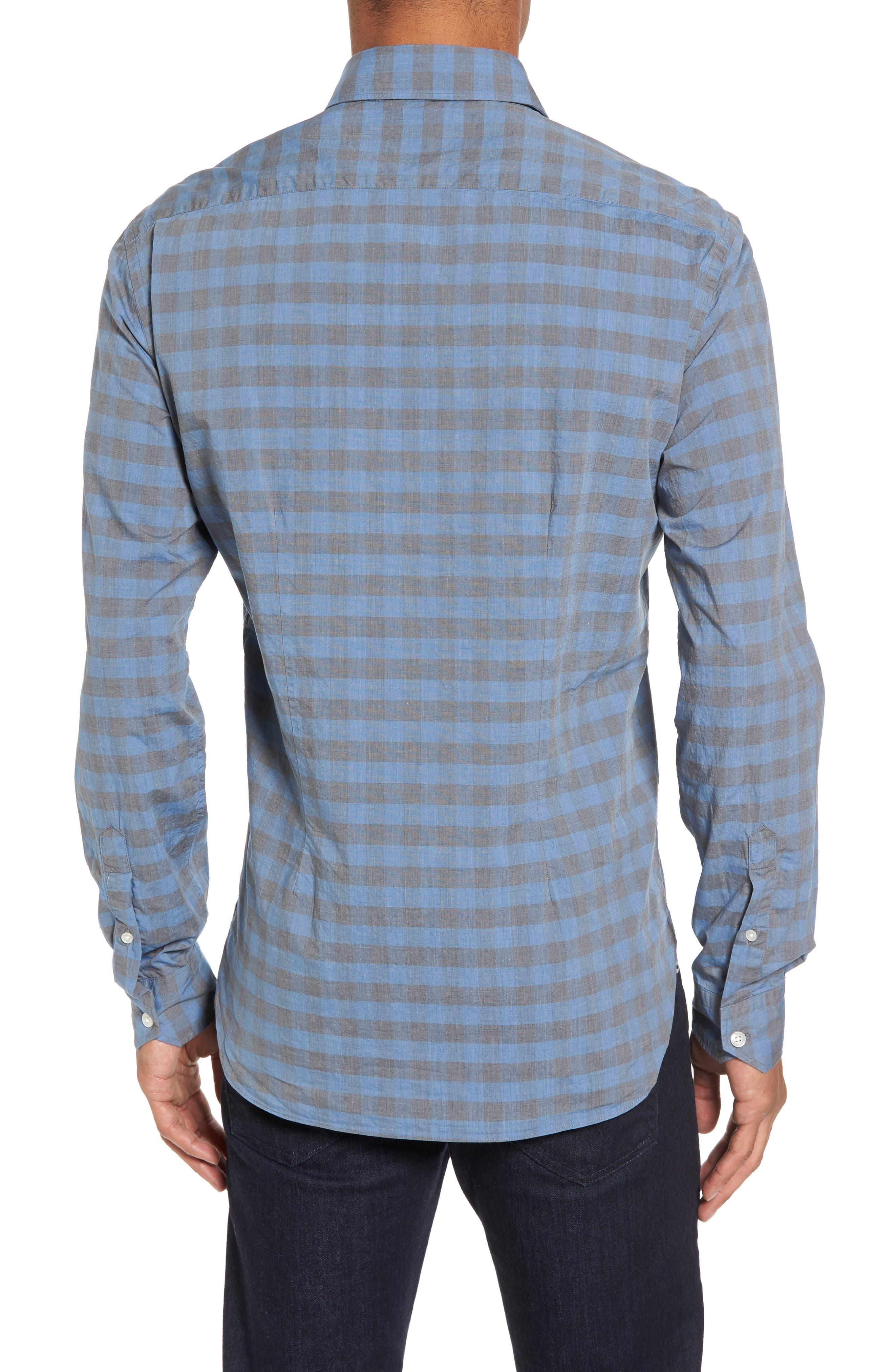 Slim Fit Check Sport Shirt,                             Alternate thumbnail 2, color,                             400