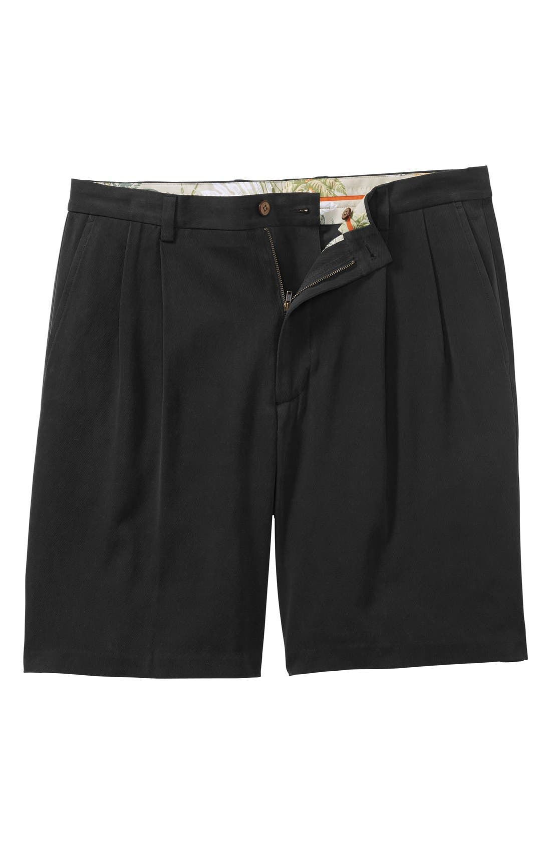 St. Thomas Pleated Shorts,                             Alternate thumbnail 3, color,                             001