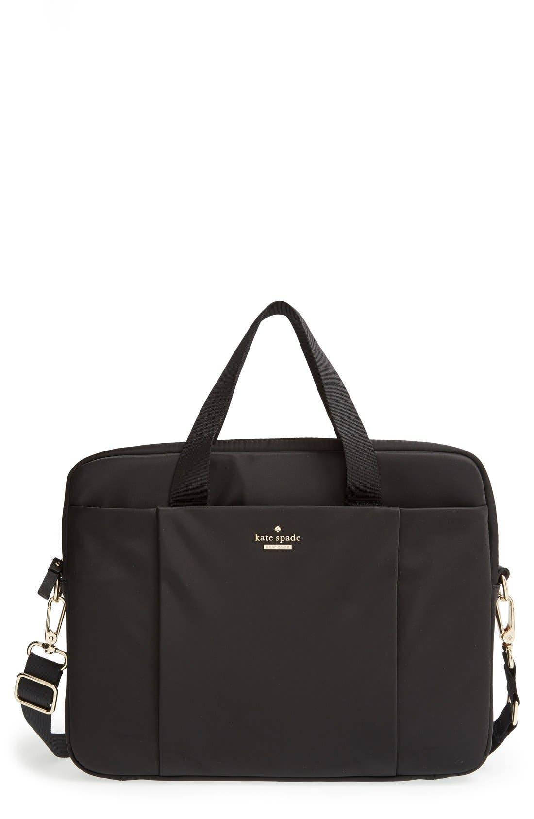 KATE SPADE NEW YORK 'classic' laptop case, Main, color, 001