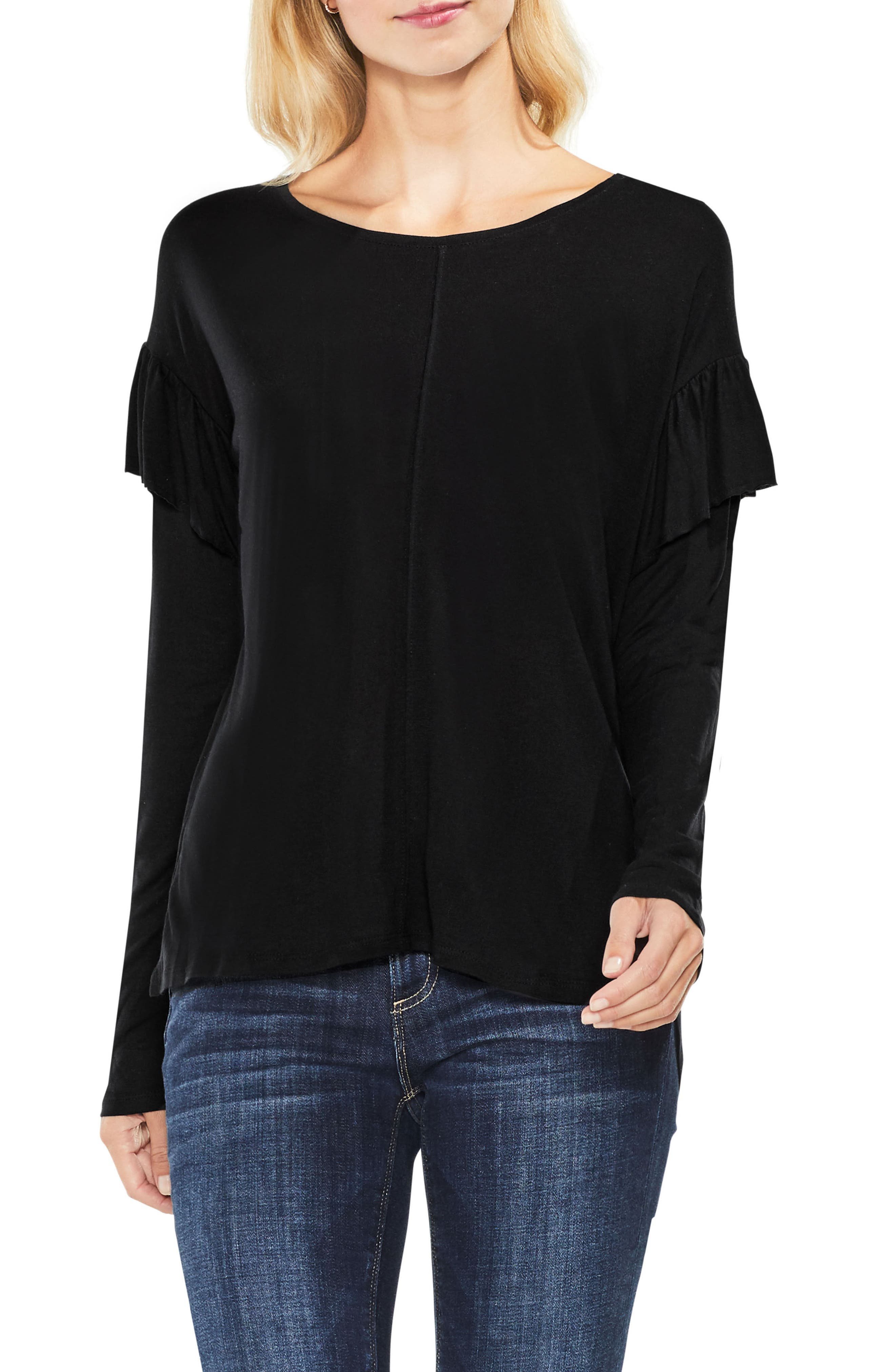 Seam Ruffle Shoulder Top,                         Main,                         color,