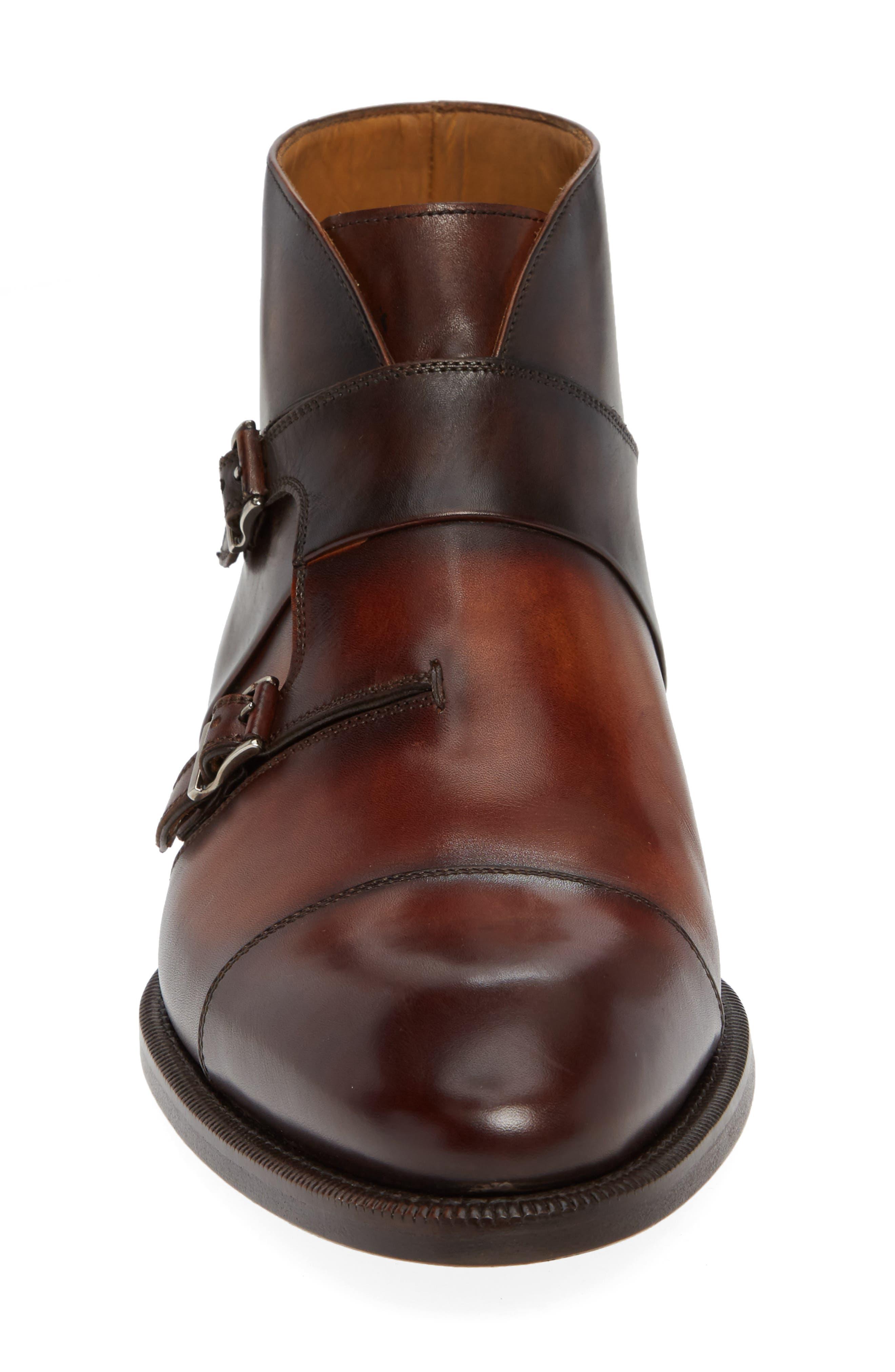 Dionicio Monk Strap Boot,                             Alternate thumbnail 4, color,                             COGNAC LEATHER