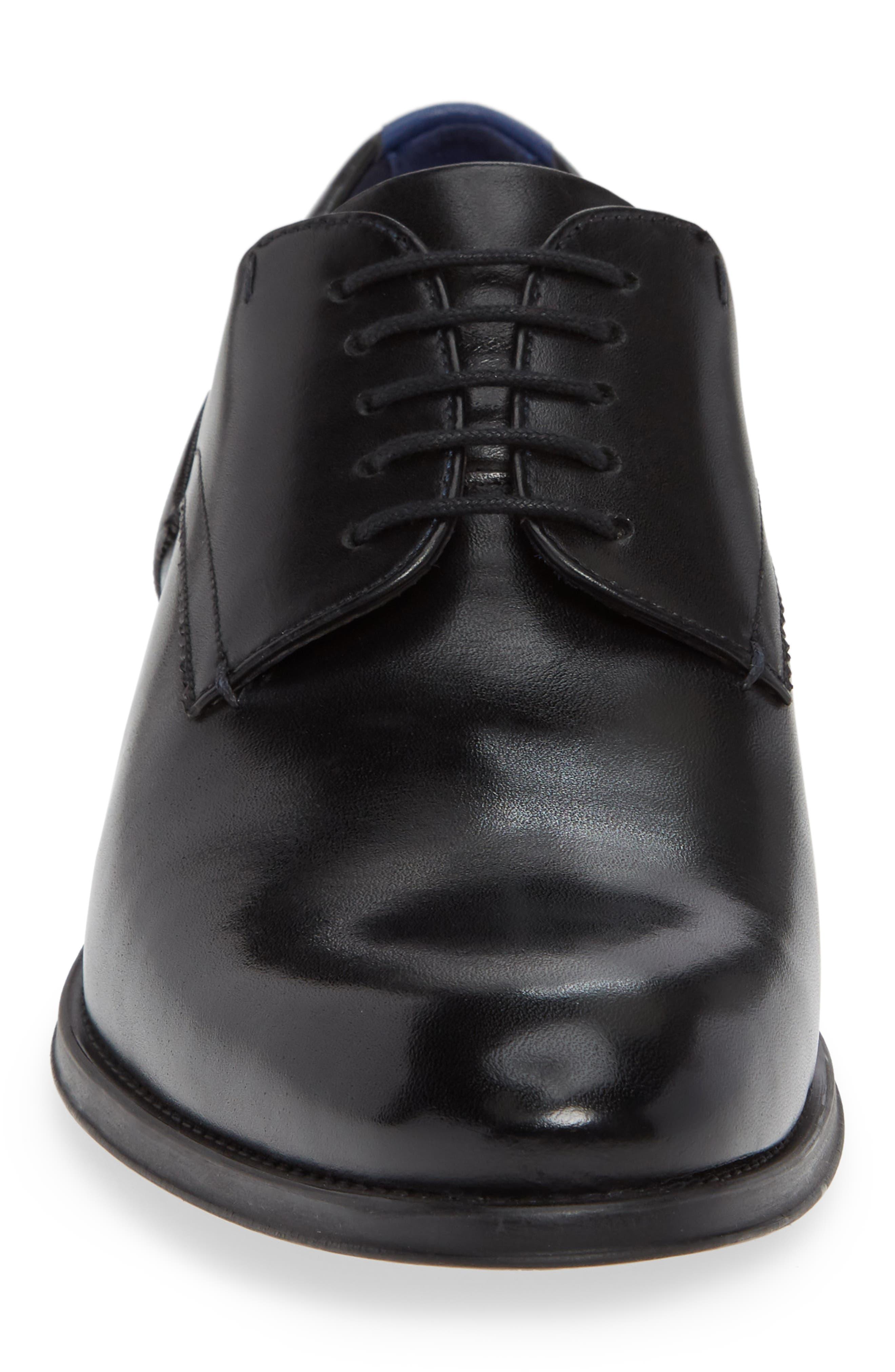 Jusdim Plain Toe Derby,                             Alternate thumbnail 4, color,                             BLACK
