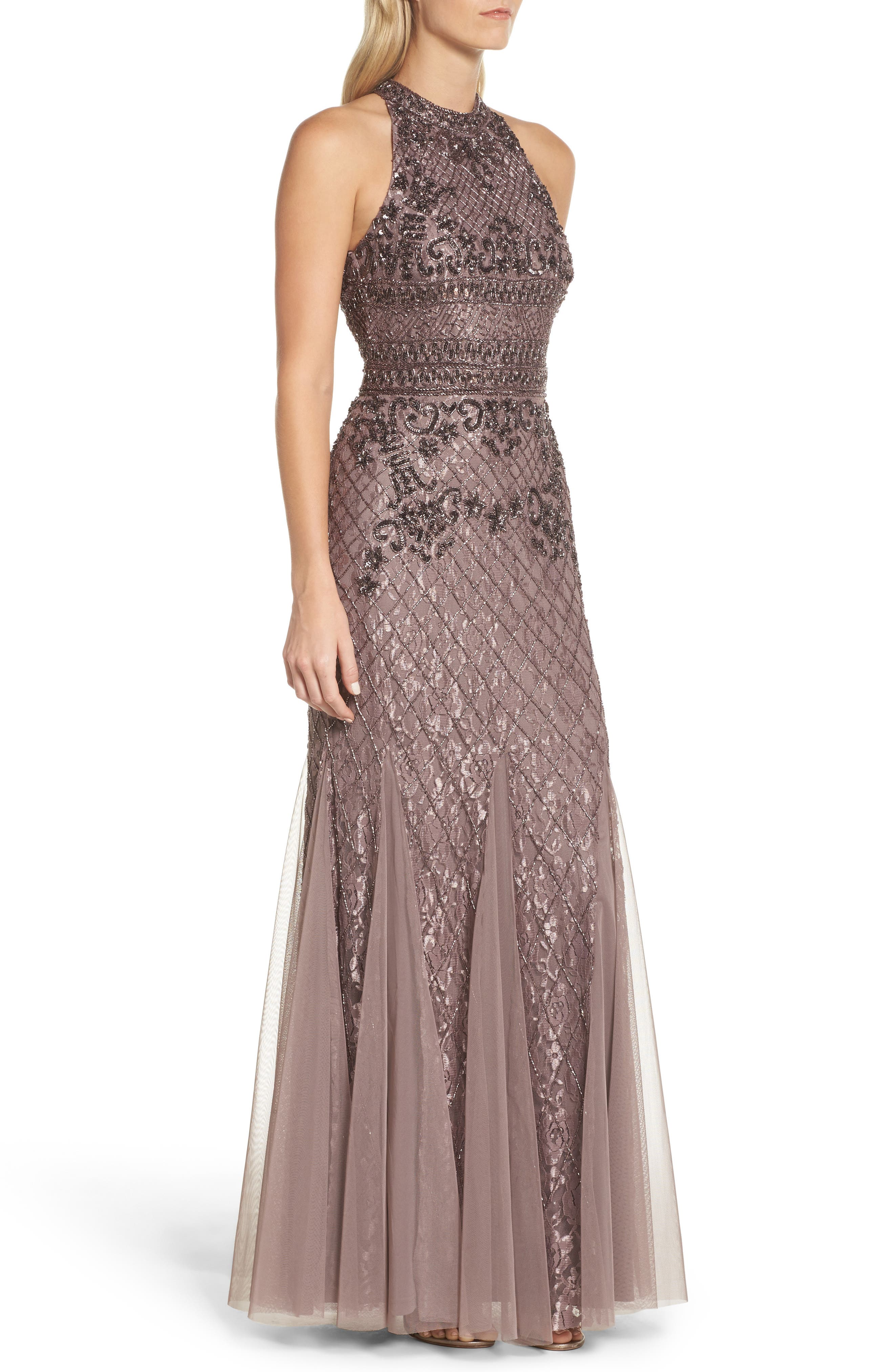 Bead Embellished Gown,                             Alternate thumbnail 3, color,                             250