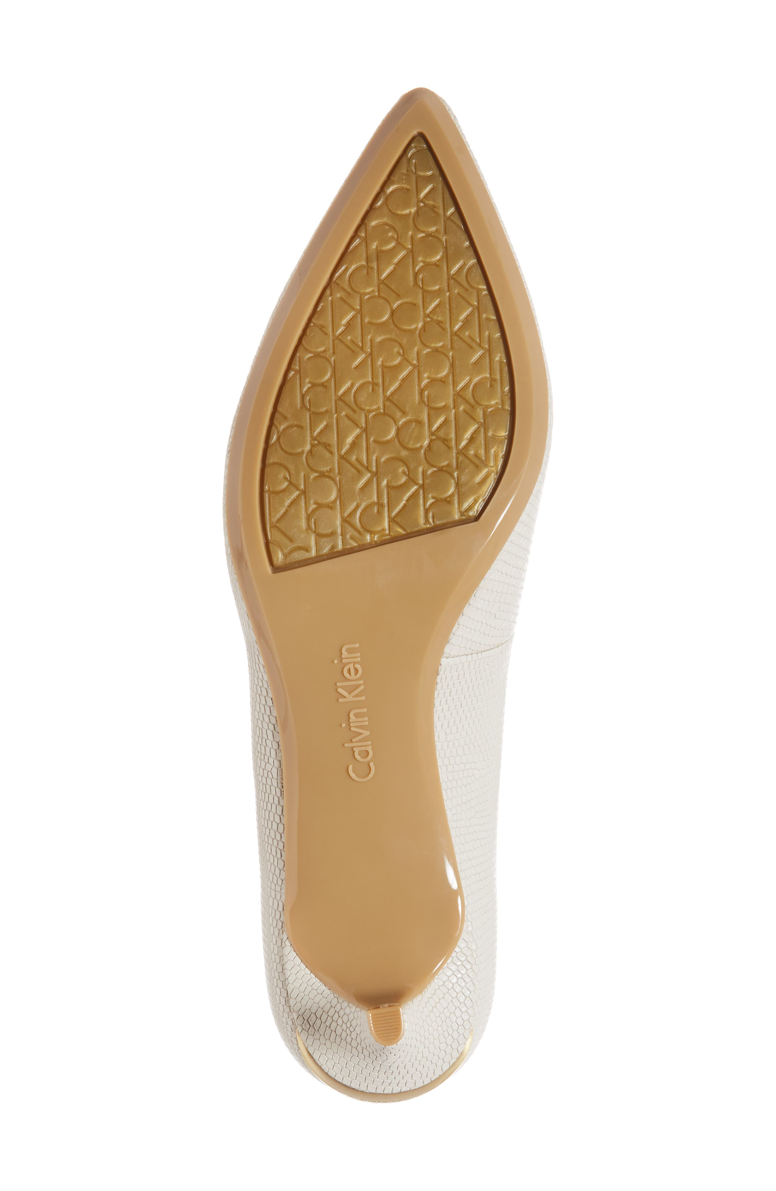 Gabrianna Pump,                             Alternate thumbnail 6, color,                             SOFT WHITE LEATHER
