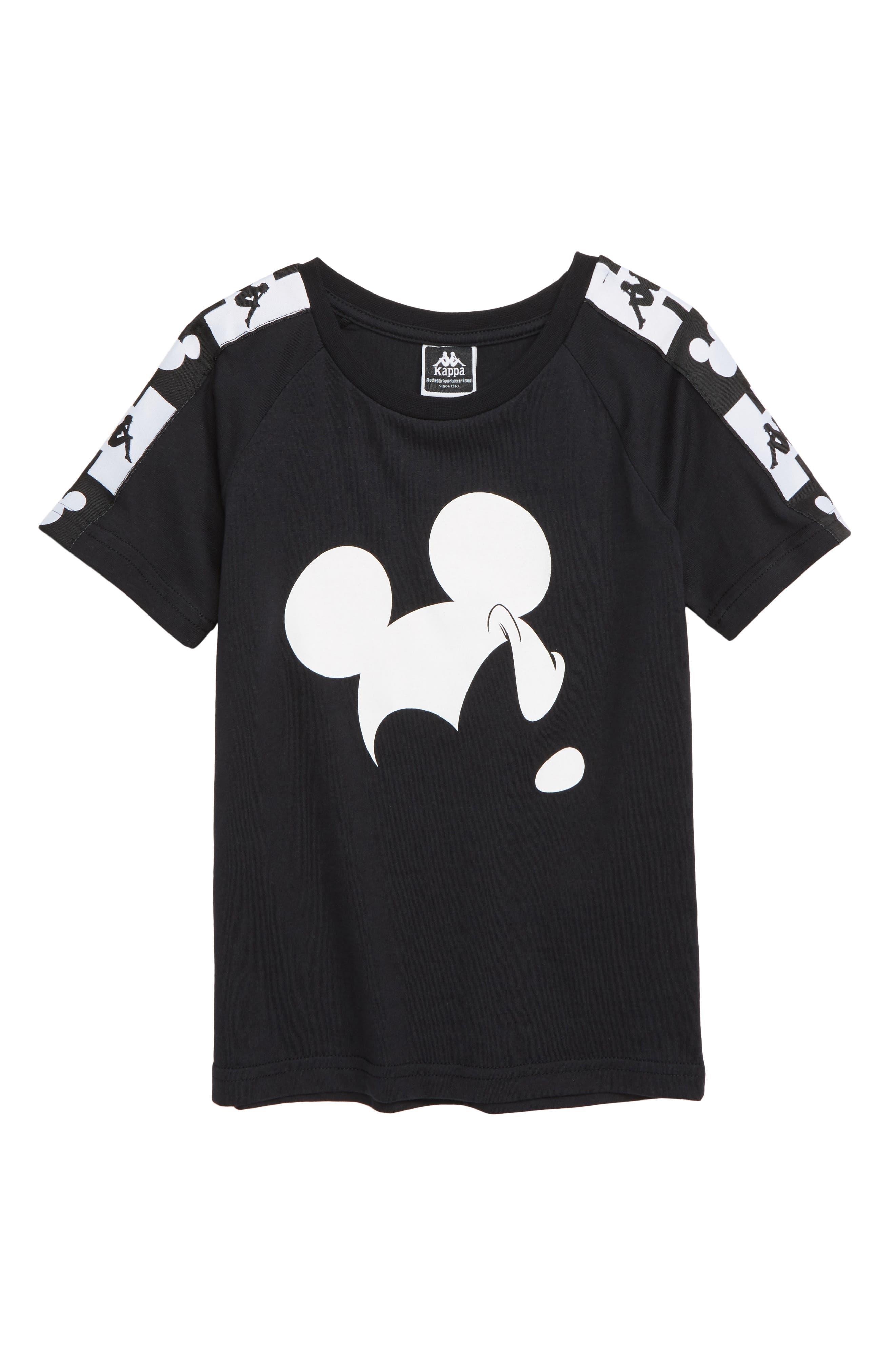 KAPPA,                             x Disney<sup>®</sup> Authentic Alvar Mickey Mouse T-Shirt,                             Main thumbnail 1, color,                             001
