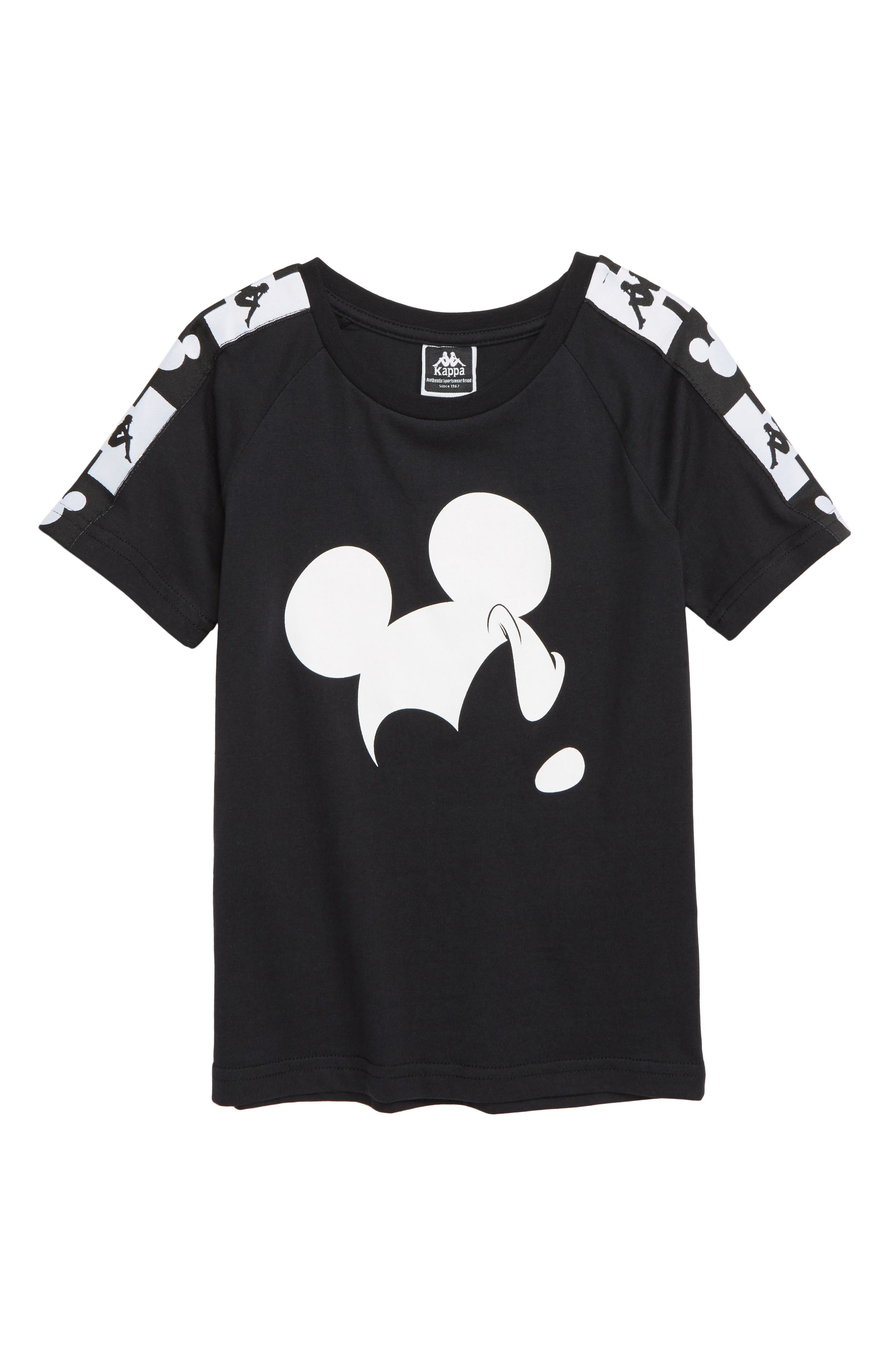 KAPPA x Disney<sup>®</sup> Authentic Alvar Mickey Mouse T-Shirt, Main, color, 001