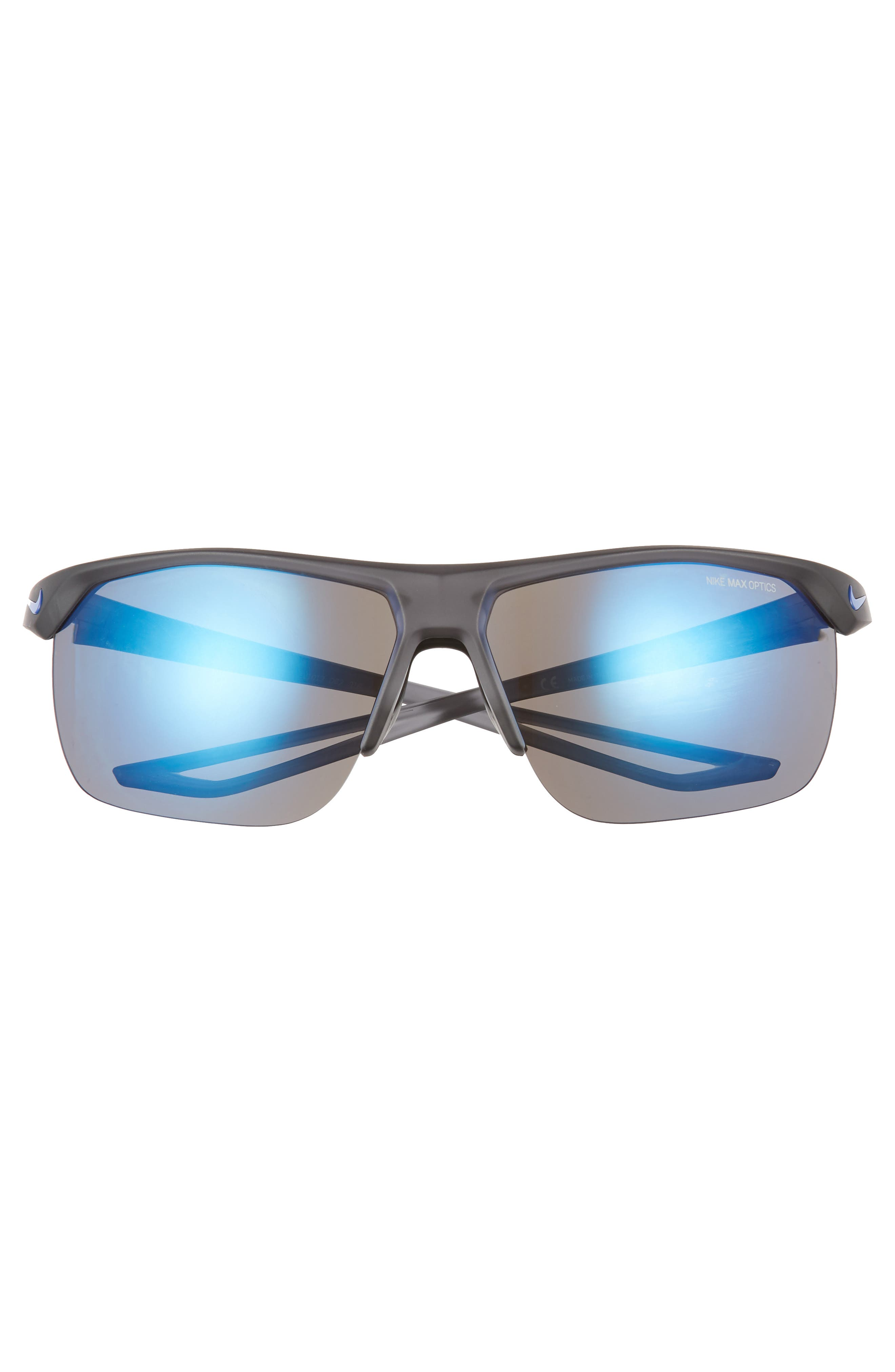 Trainer R 67mm Oversize Sunglasses,                             Alternate thumbnail 2, color,                             MATTE GREY/ GREY BLUE MIRROR