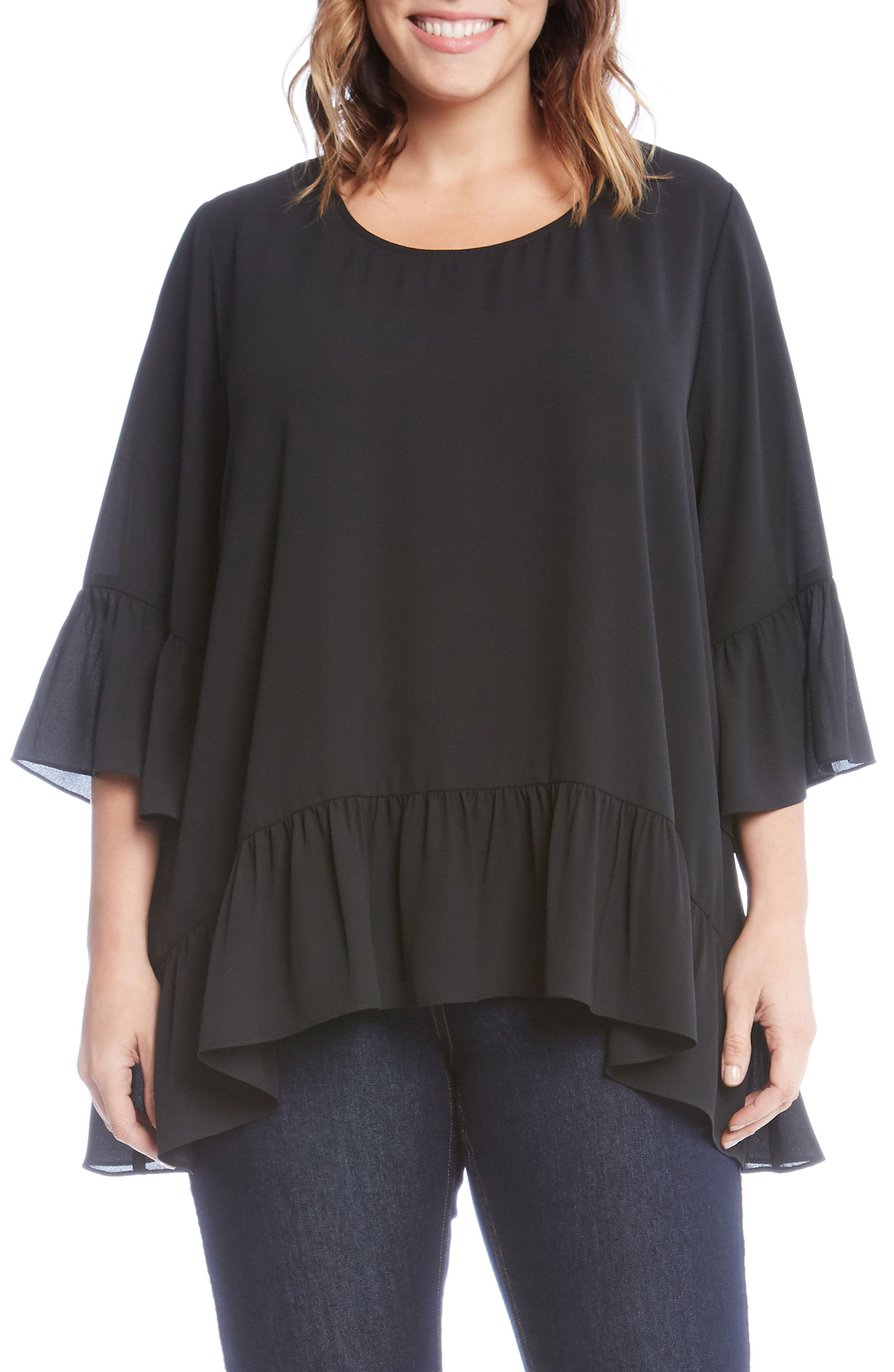Ruffle Hem Top,                         Main,                         color,