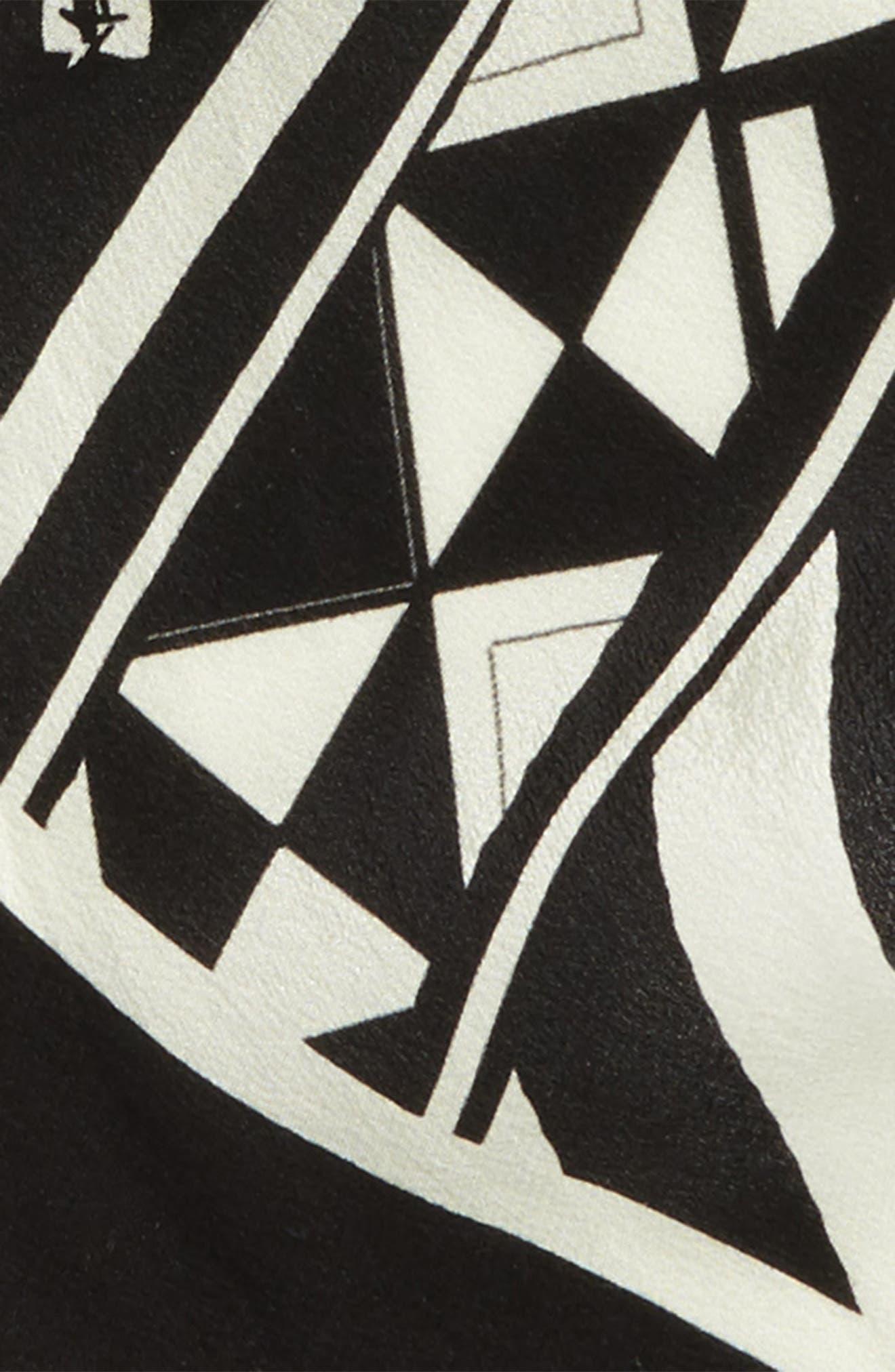Skinny Silk Scarf,                             Alternate thumbnail 3, color,                             001