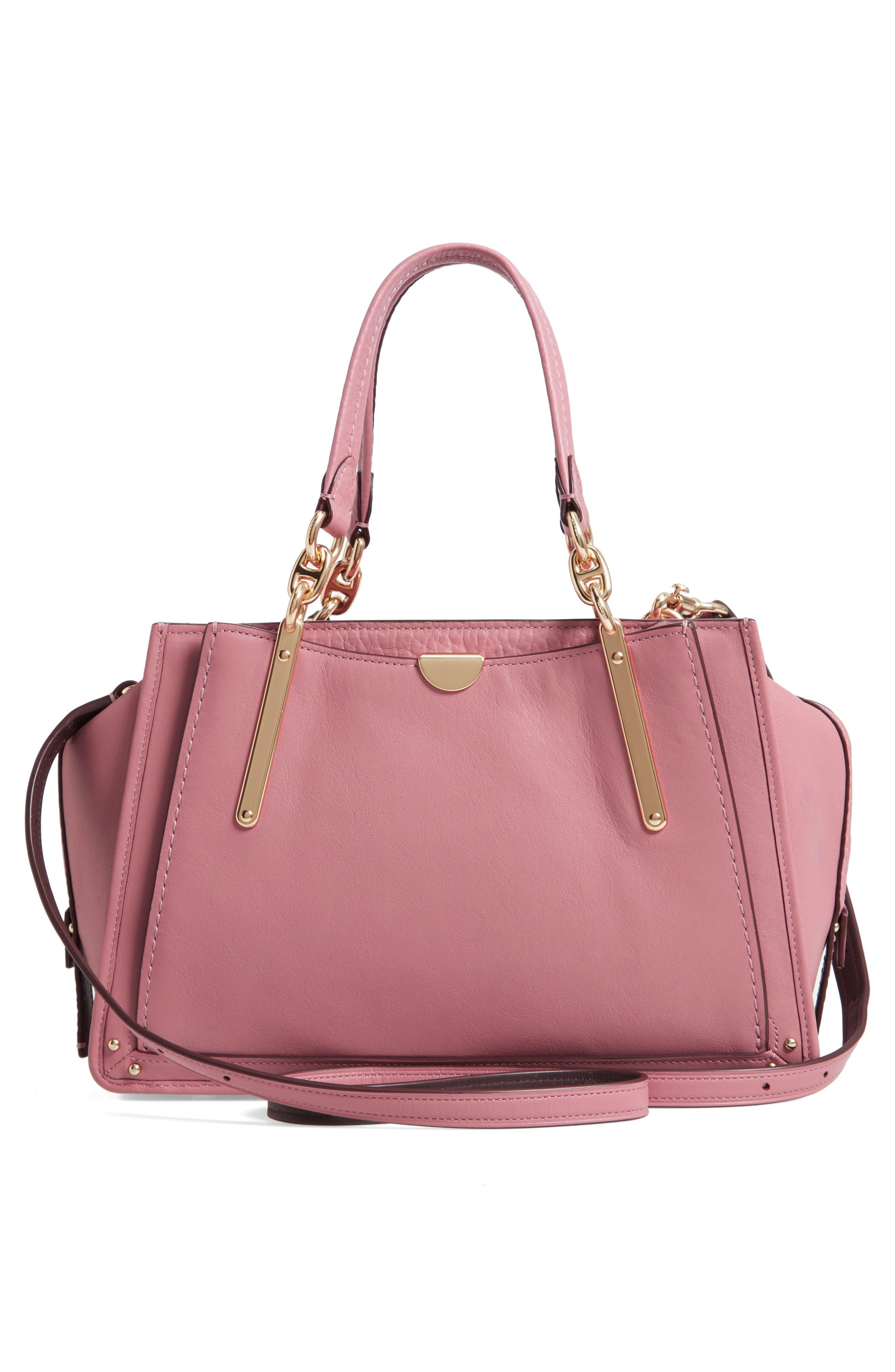 Dreamer Leather Handbag,                             Alternate thumbnail 3, color,                             ROSE MULTI