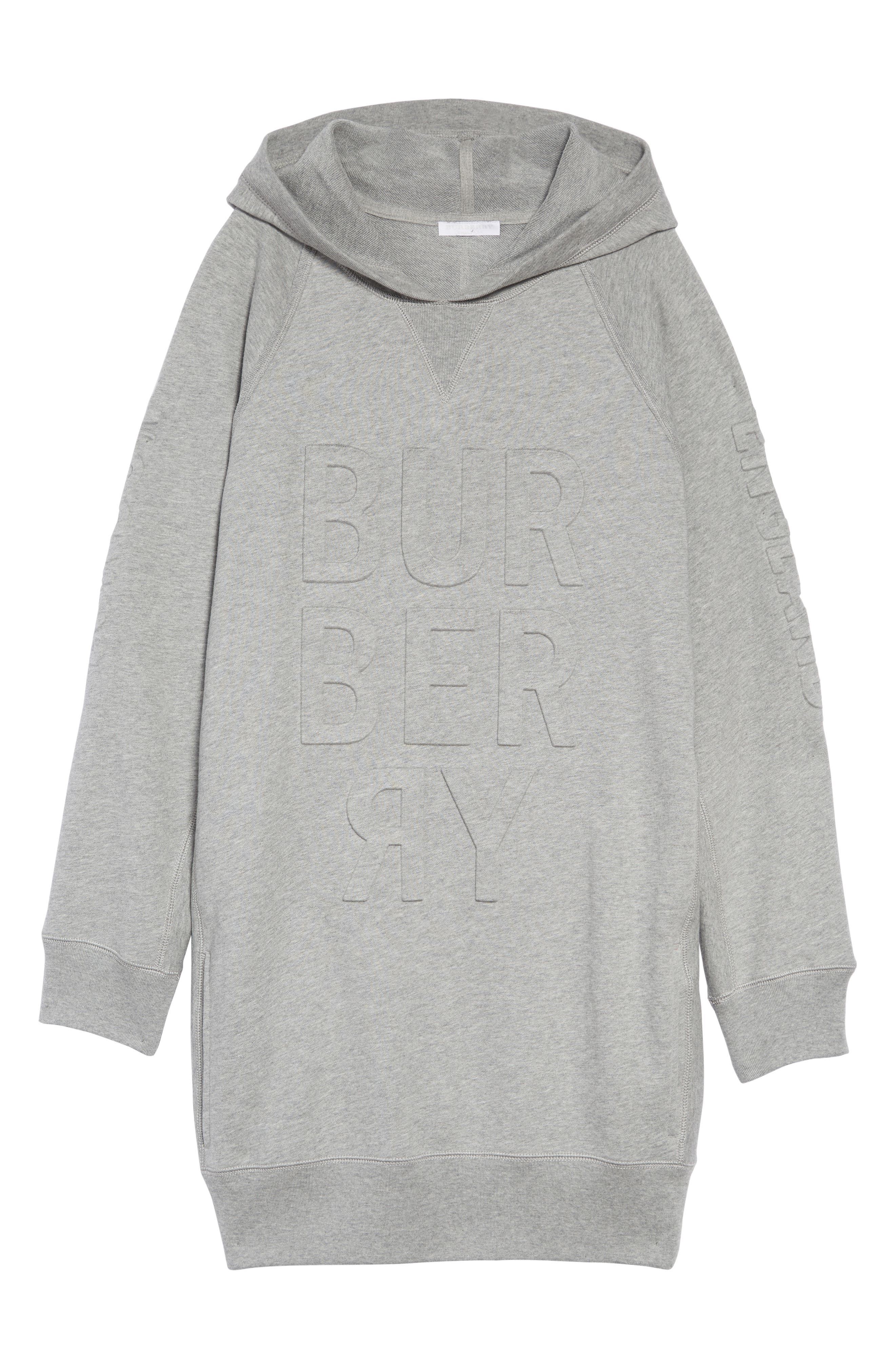 Aurora Logo Sweatshirt Dress,                             Main thumbnail 1, color,                             GREY MELANGE