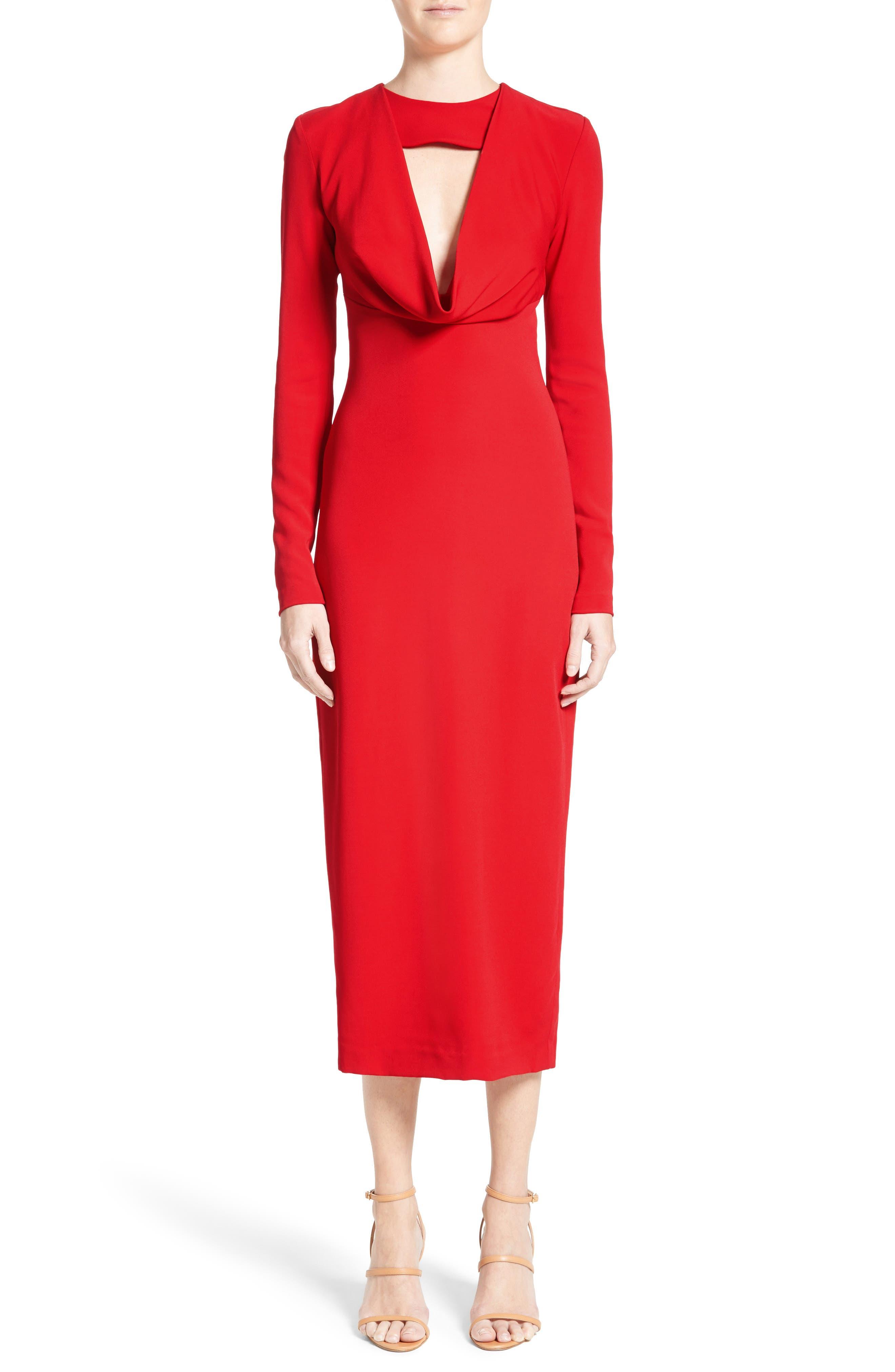 Cowl Neck Pencil Dress,                         Main,                         color, 622