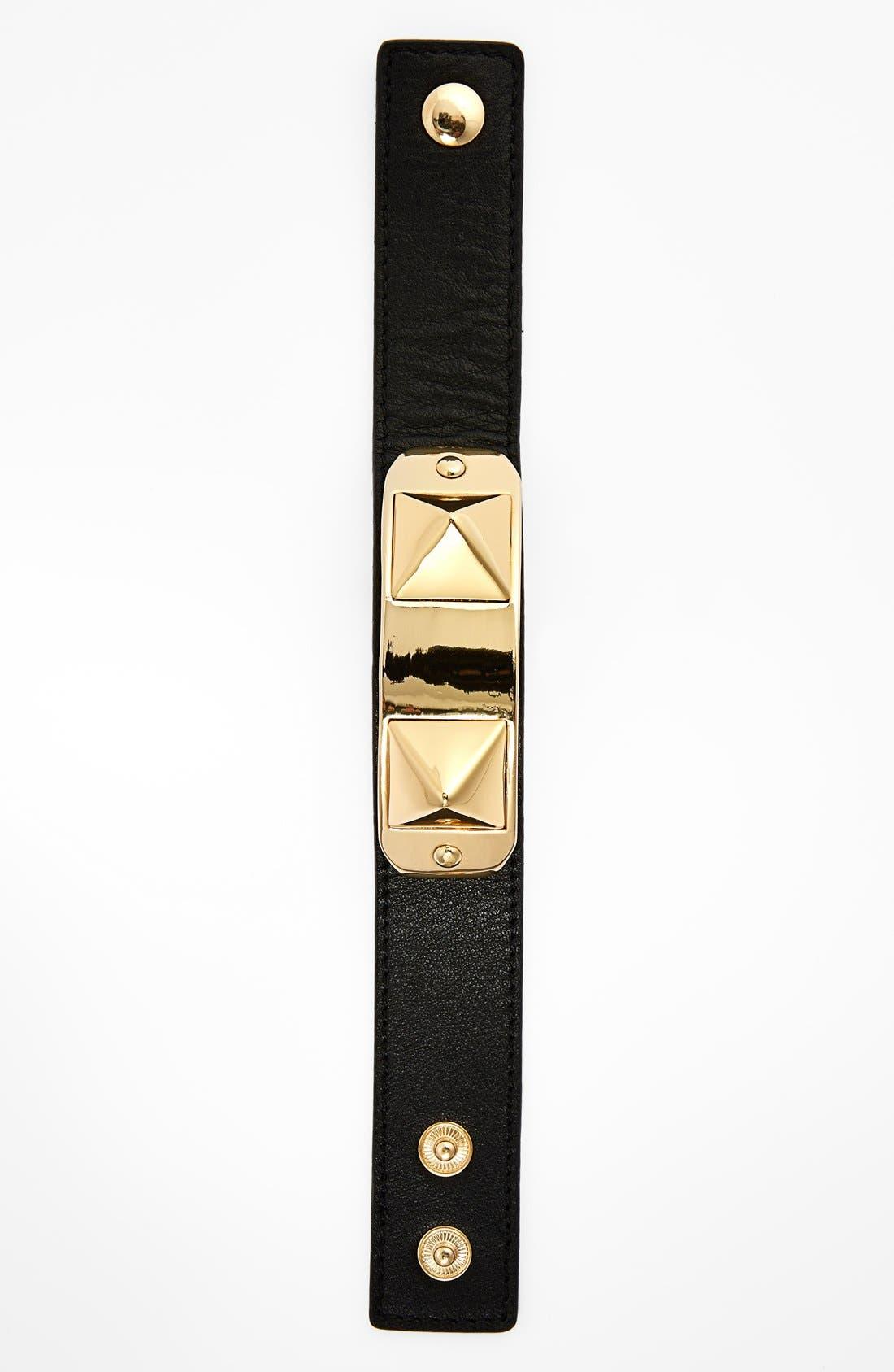 Leather Bracelet,                             Alternate thumbnail 2, color,                             001