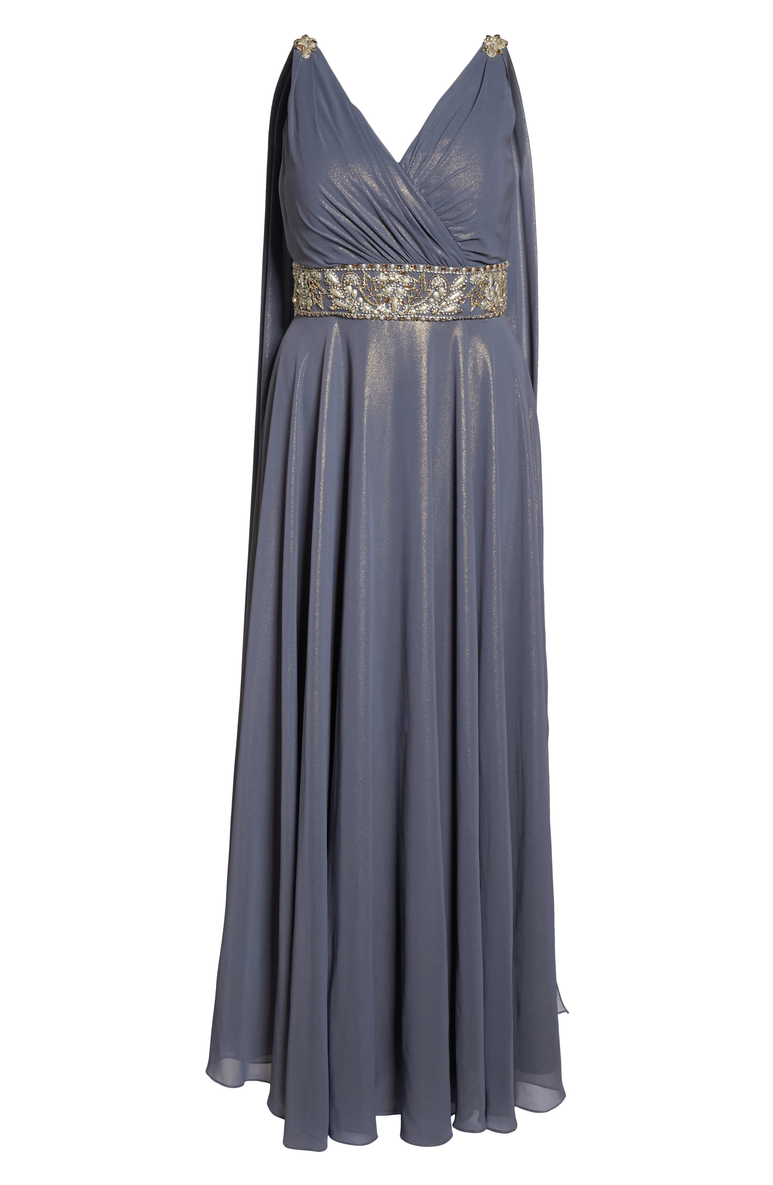 Embellished A-Line Gown,                             Alternate thumbnail 6, color,                             020