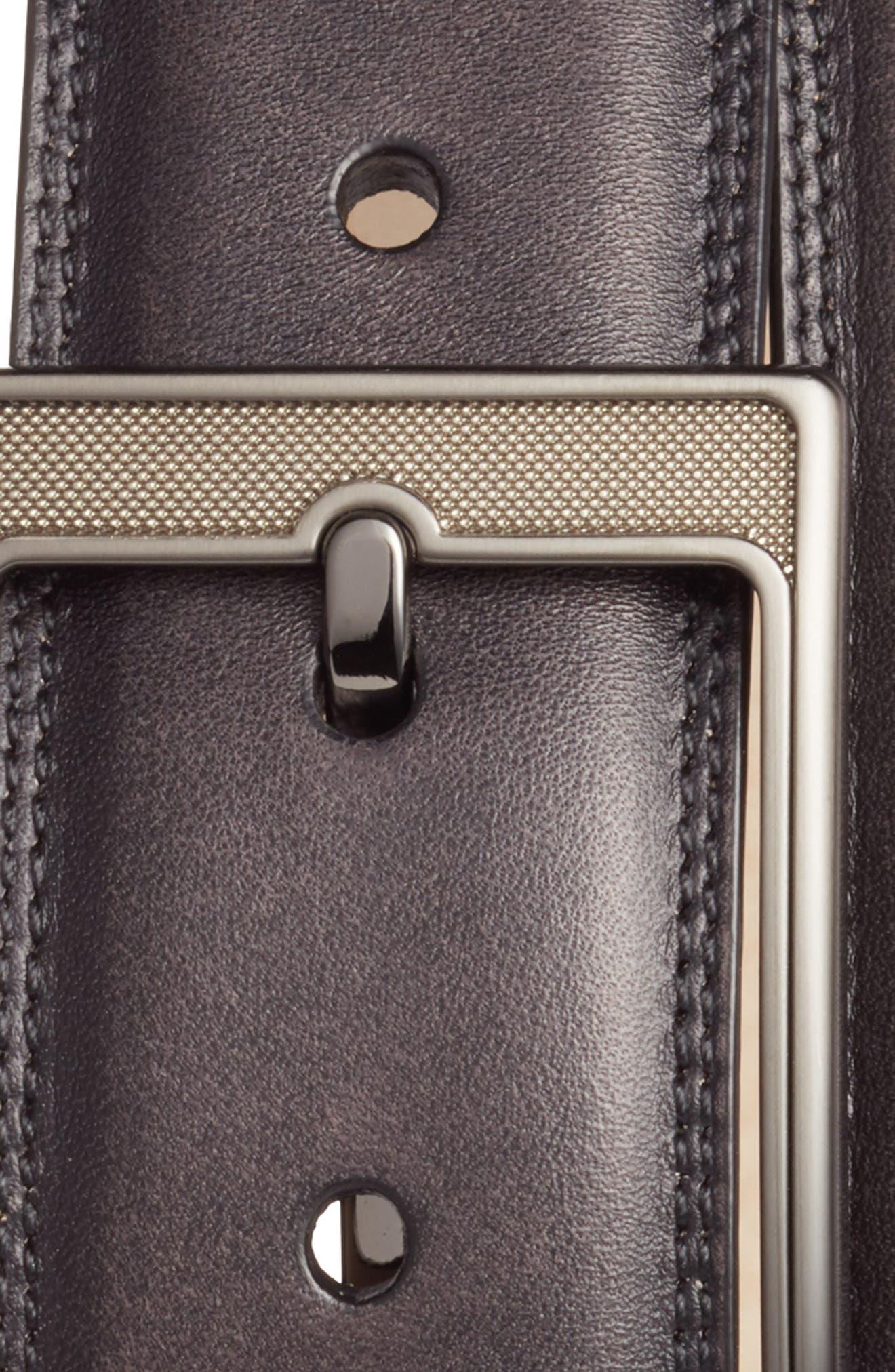 Tequila Leather Belt,                             Alternate thumbnail 2, color,                             BLACK