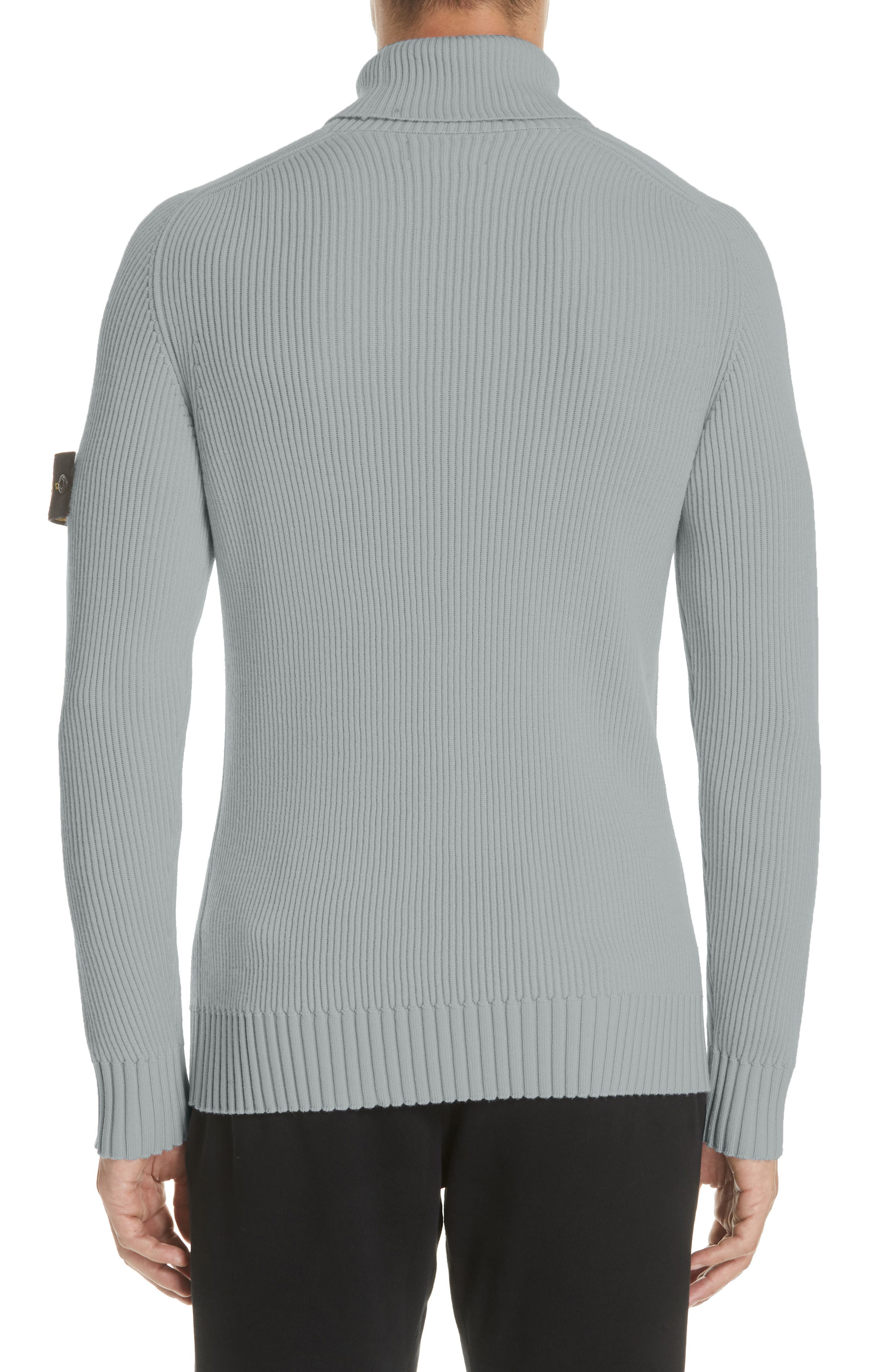 Ribbed Wool Turtleneck Sweater,                             Alternate thumbnail 2, color,                             GREY