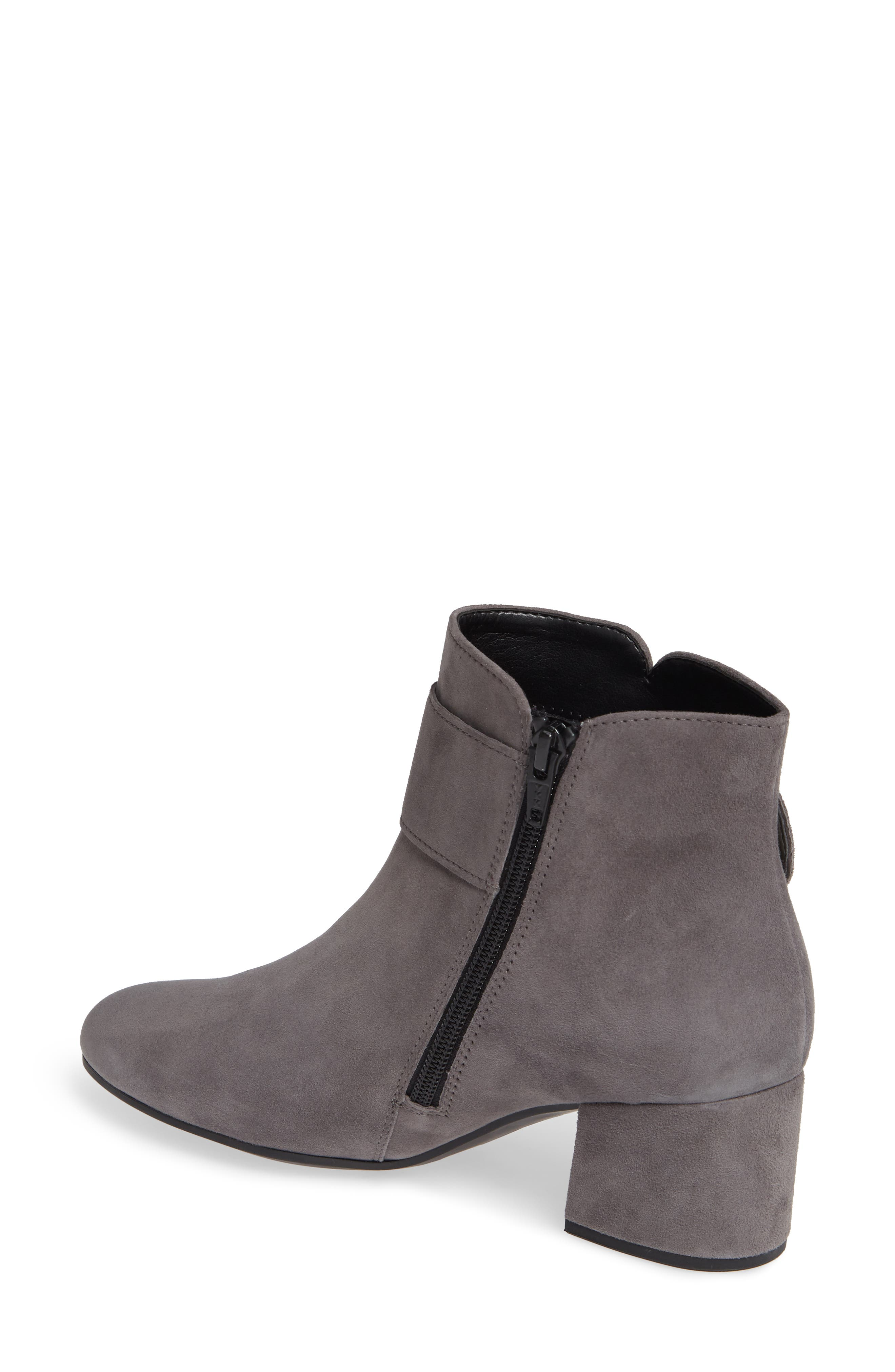 Fashion Bootie,                             Alternate thumbnail 2, color,                             DARK GREY LEATHER
