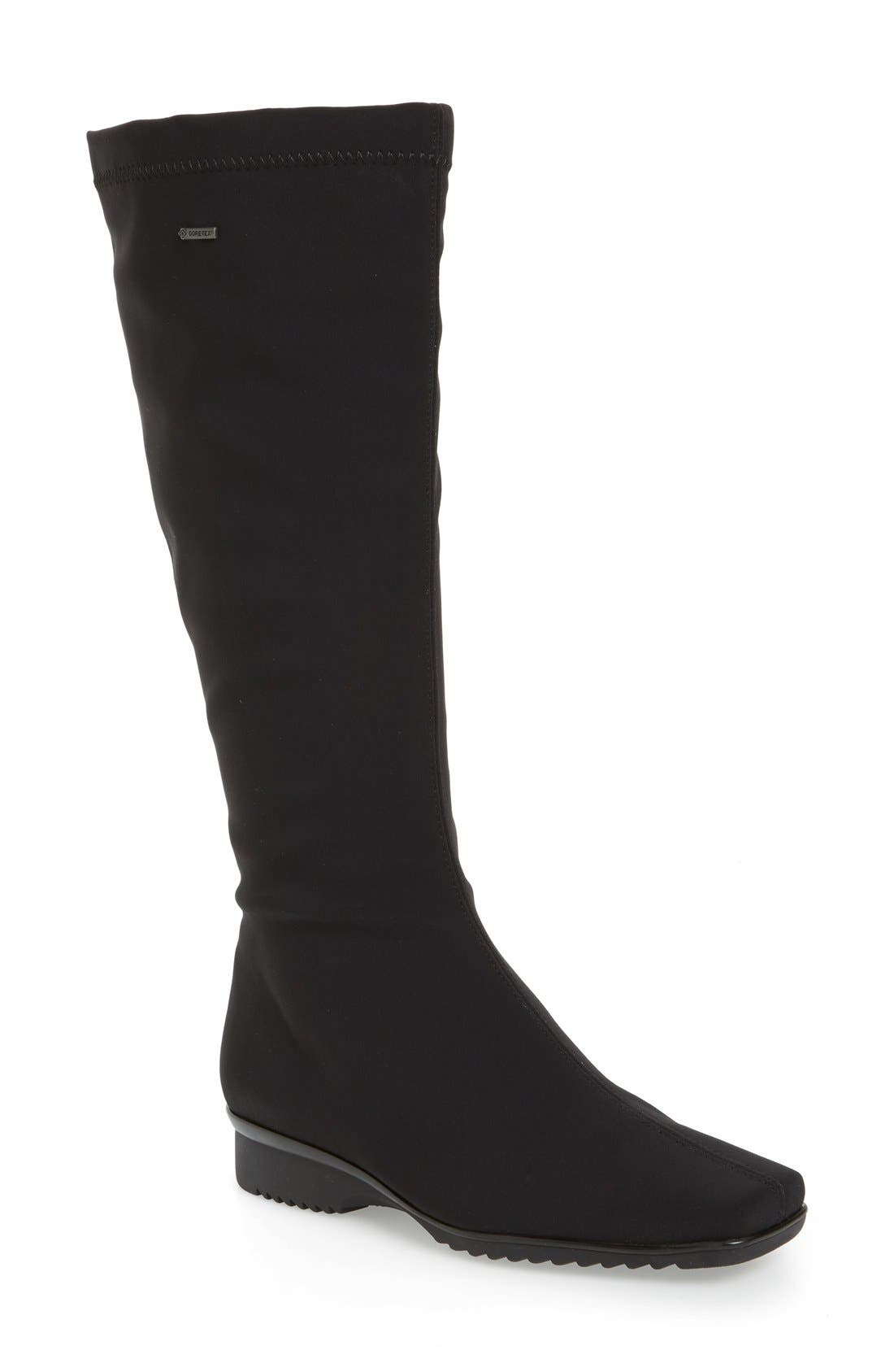 'Paula' Weatherproof Gore-Tex<sup>®</sup> Boot,                             Main thumbnail 1, color,                             BLACK FABRIC