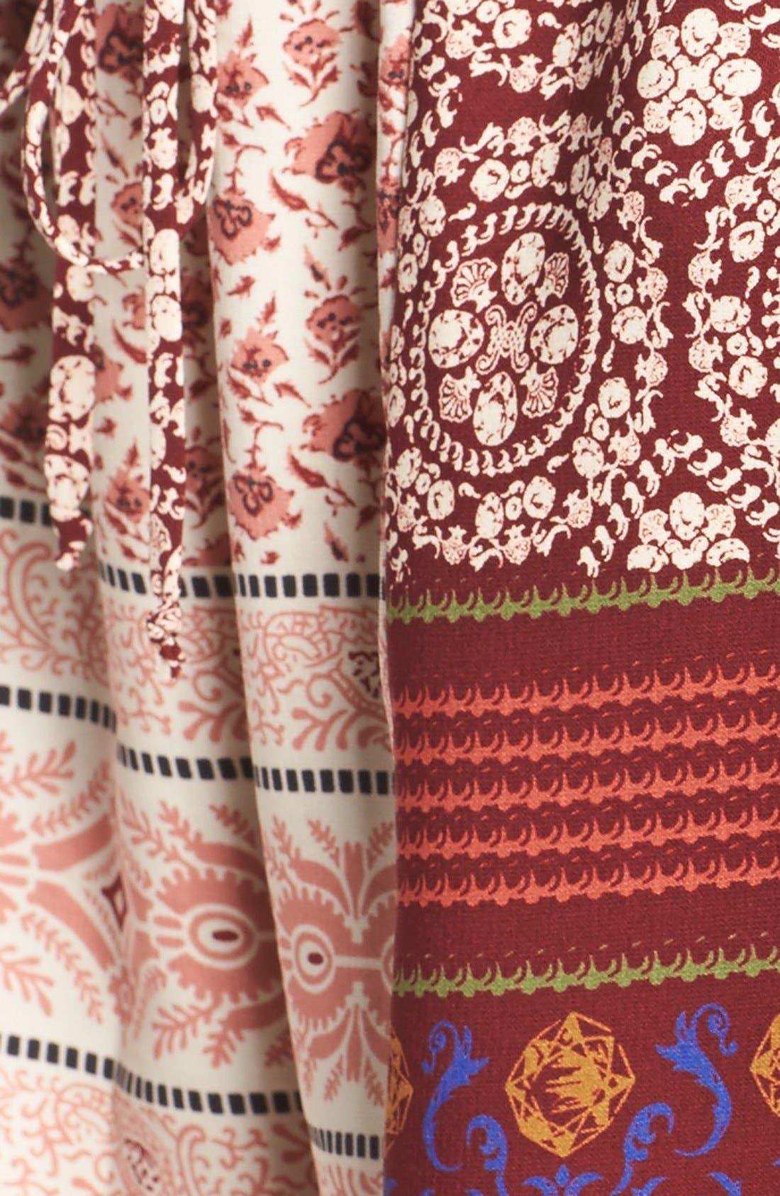 'Madison' Print Surplice Tie Waist Romper,                             Alternate thumbnail 5, color,                             937