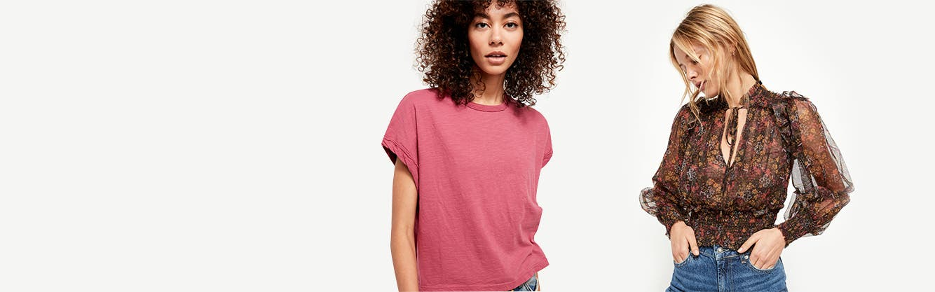 Take it from the top: women's tees and blouses.