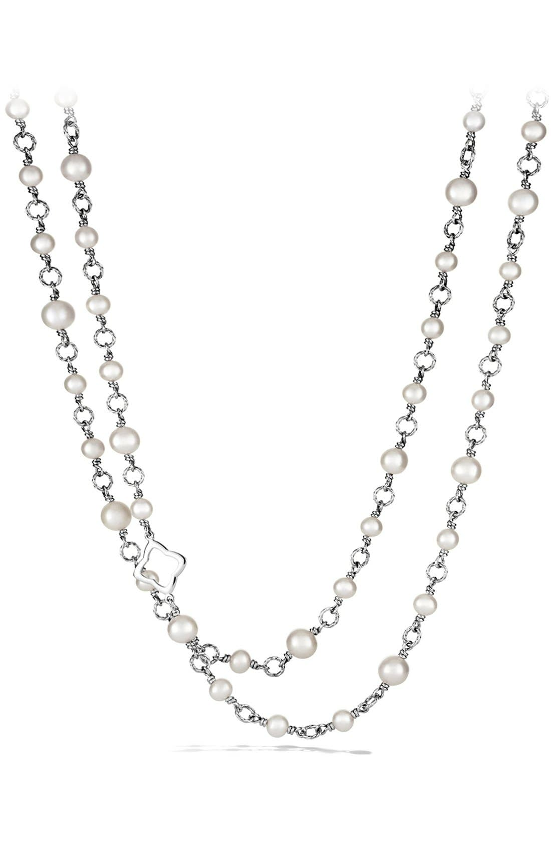 Pearl Chain Necklace,                             Main thumbnail 1, color,                             PEARL