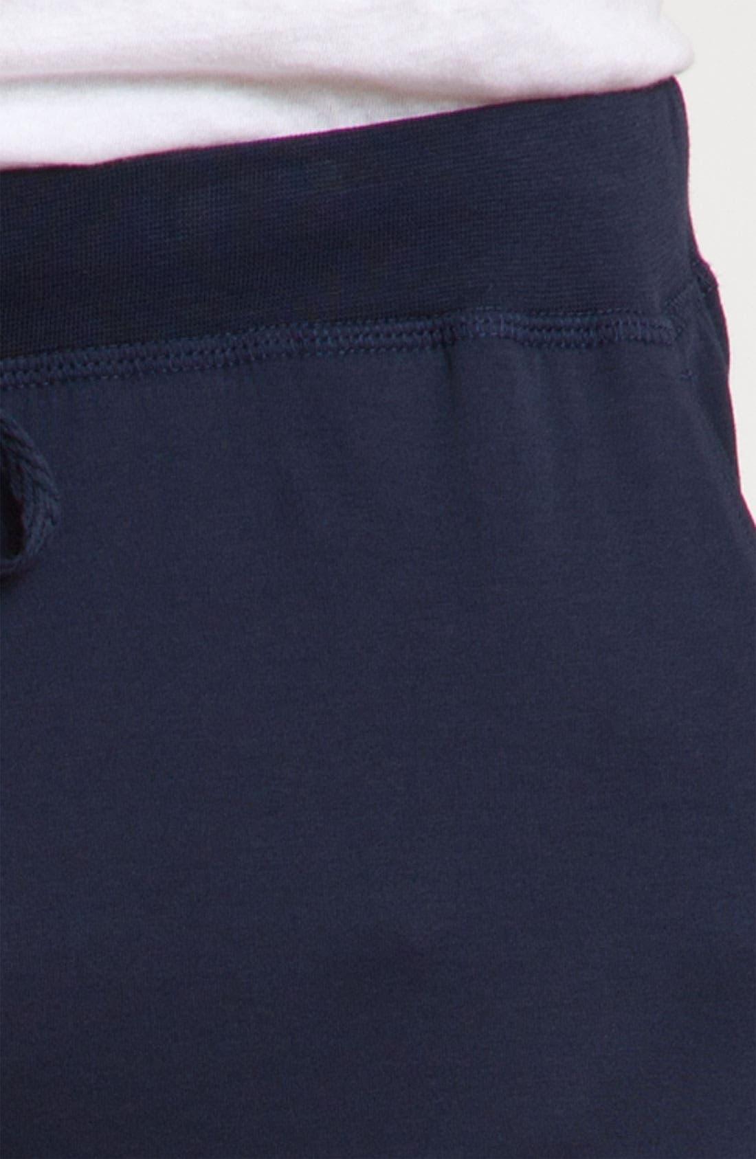 Peruvian Pima Lightweight Cotton Lounge Pants,                             Alternate thumbnail 3, color,                             NAVY