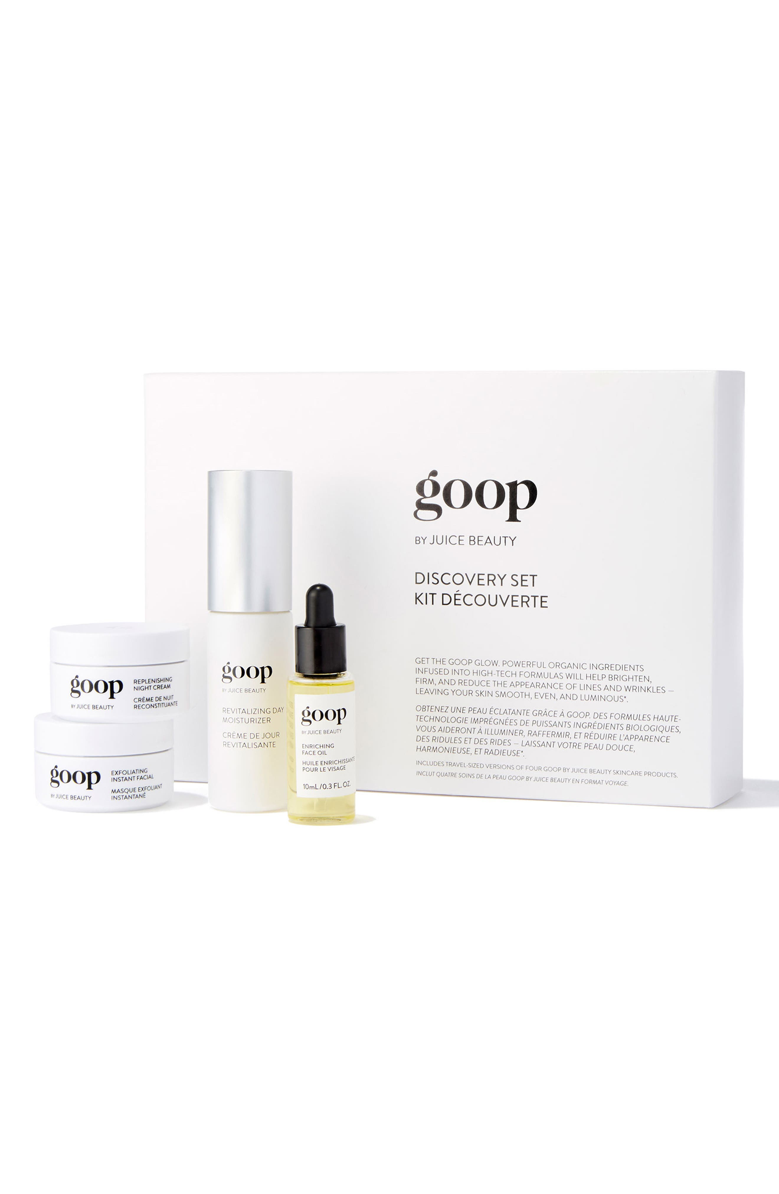 GOOP,                             by Juice Beauty Skin Care Discovery Set,                             Main thumbnail 1, color,                             000