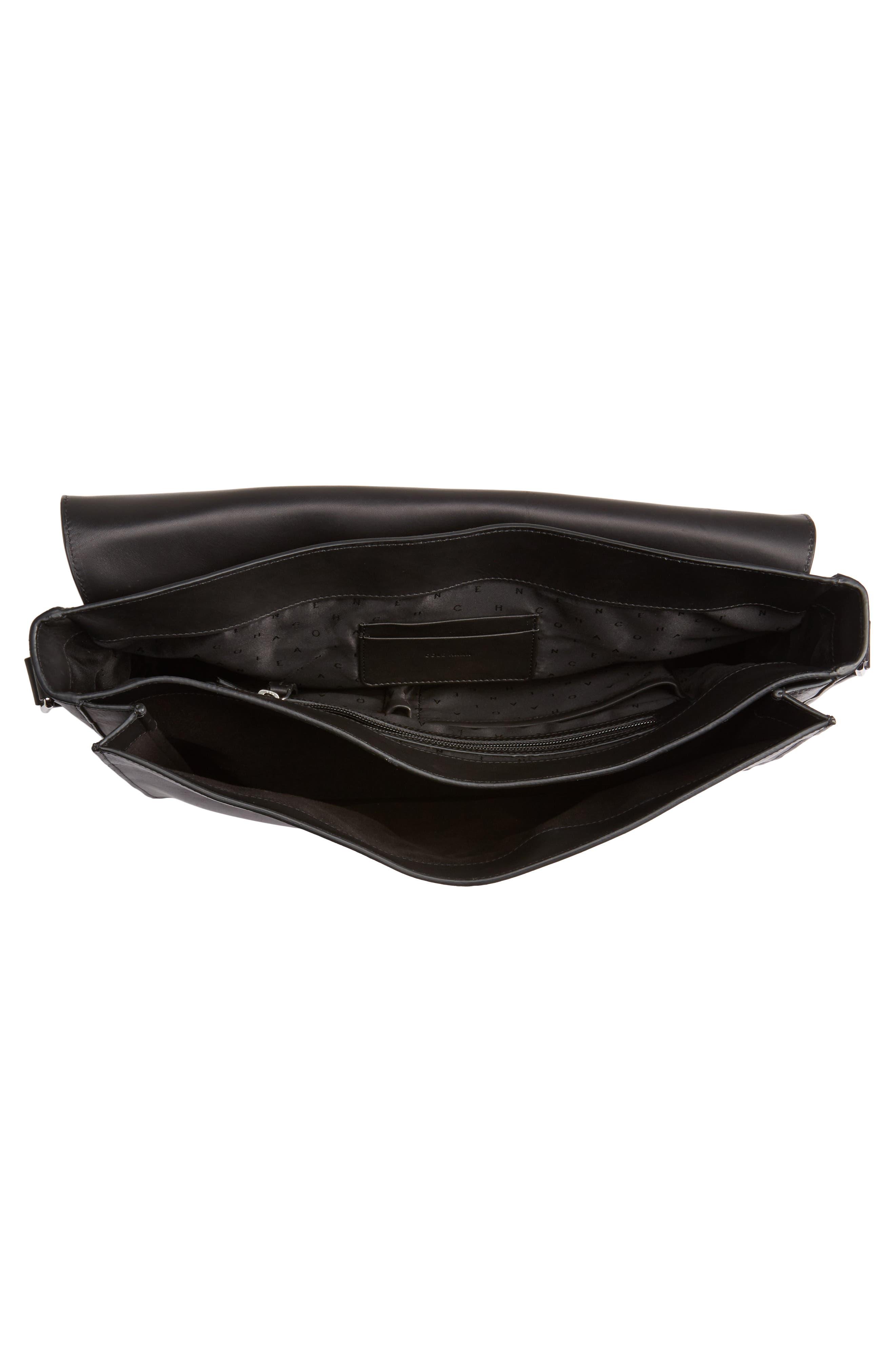 Brayton Leather Messenger Bag,                             Alternate thumbnail 4, color,