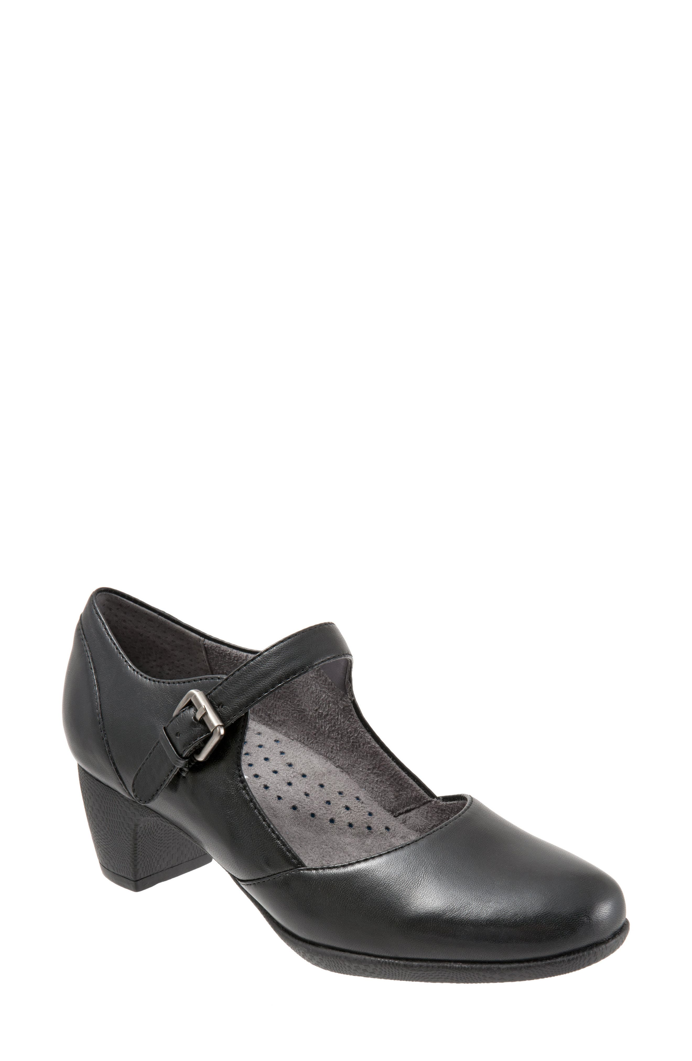 Irish II Pump,                         Main,                         color, BLACK LEATHER