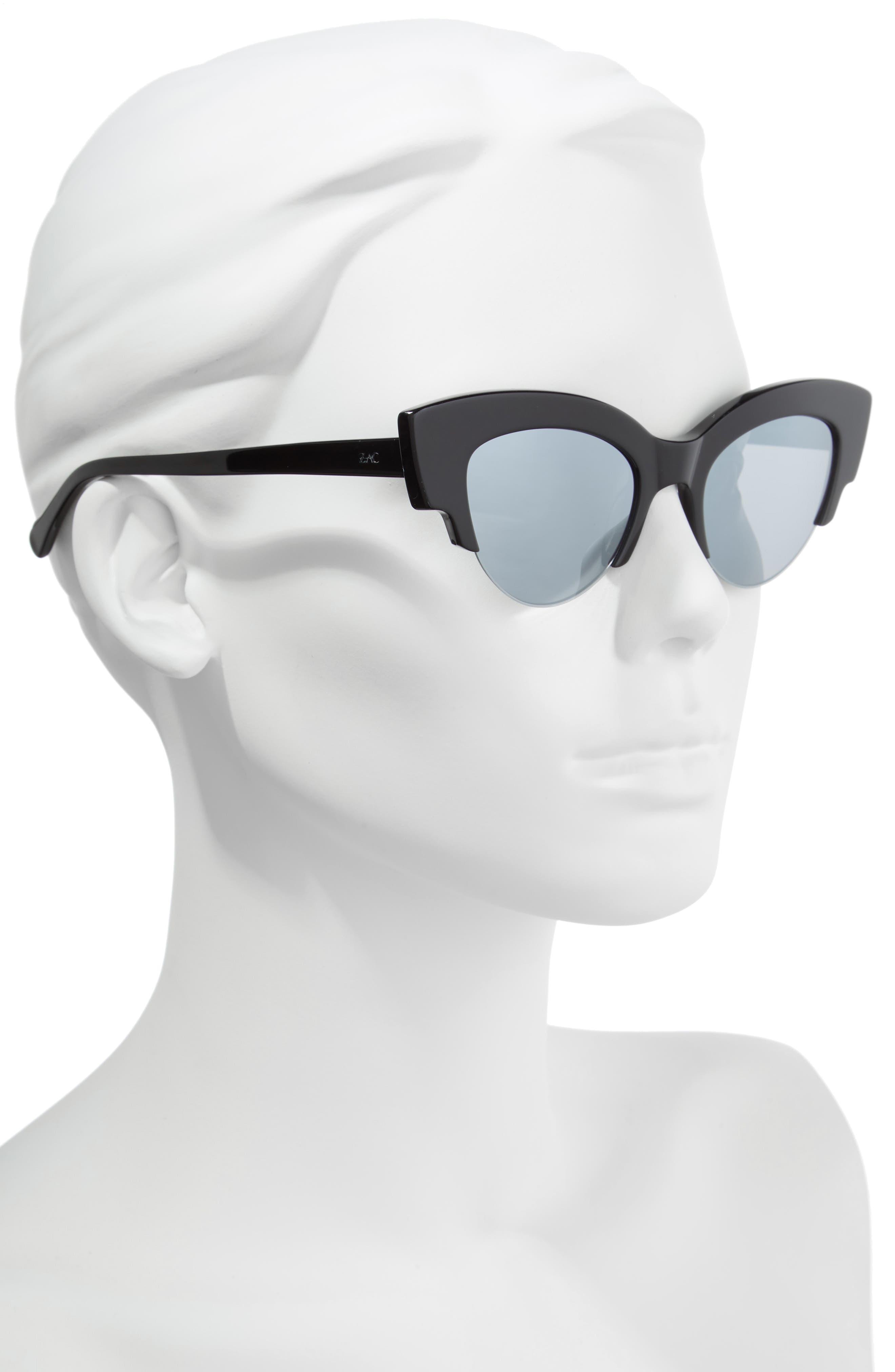 ZAC ZAC POSEN,                             Winona Cat Eye Sunglasses,                             Alternate thumbnail 2, color,                             BLACK/ SILVER