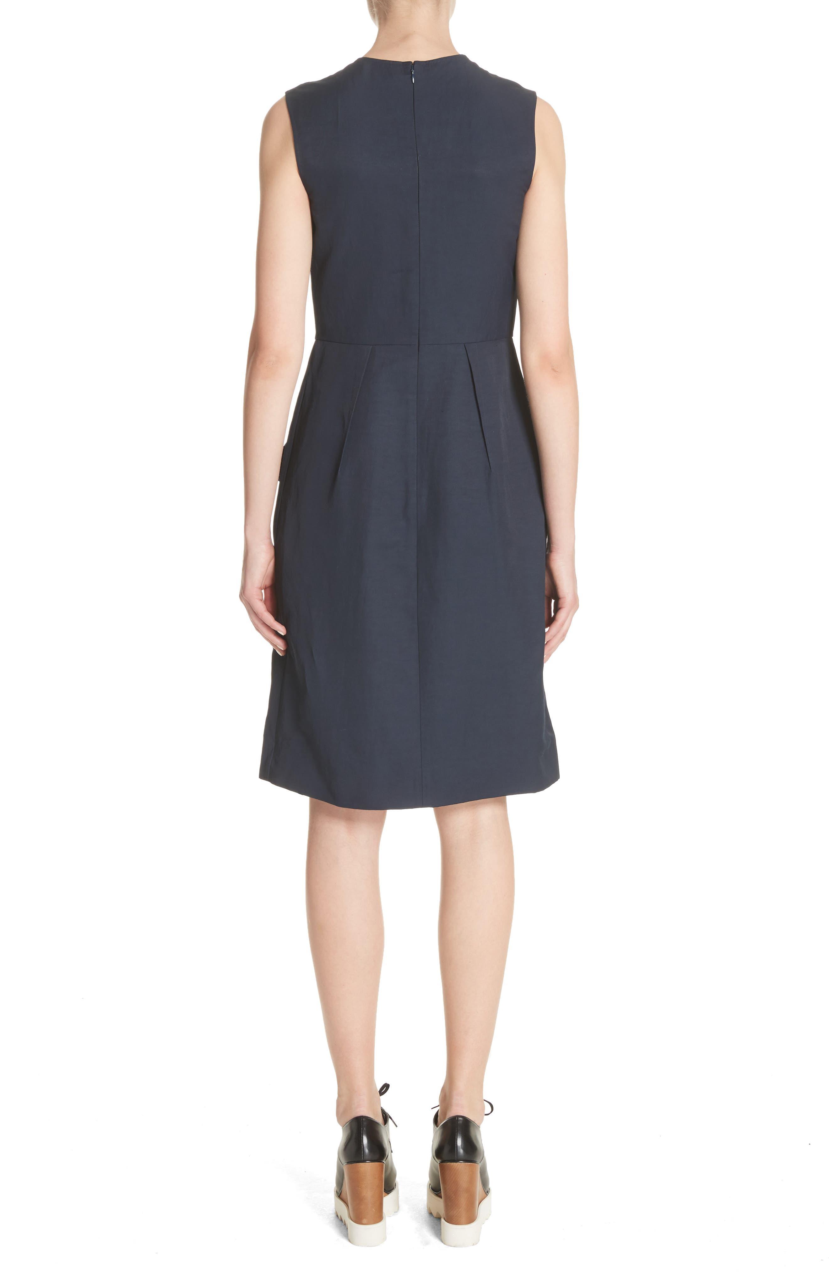 Patchwork A-Line Dress,                             Alternate thumbnail 2, color,                             001