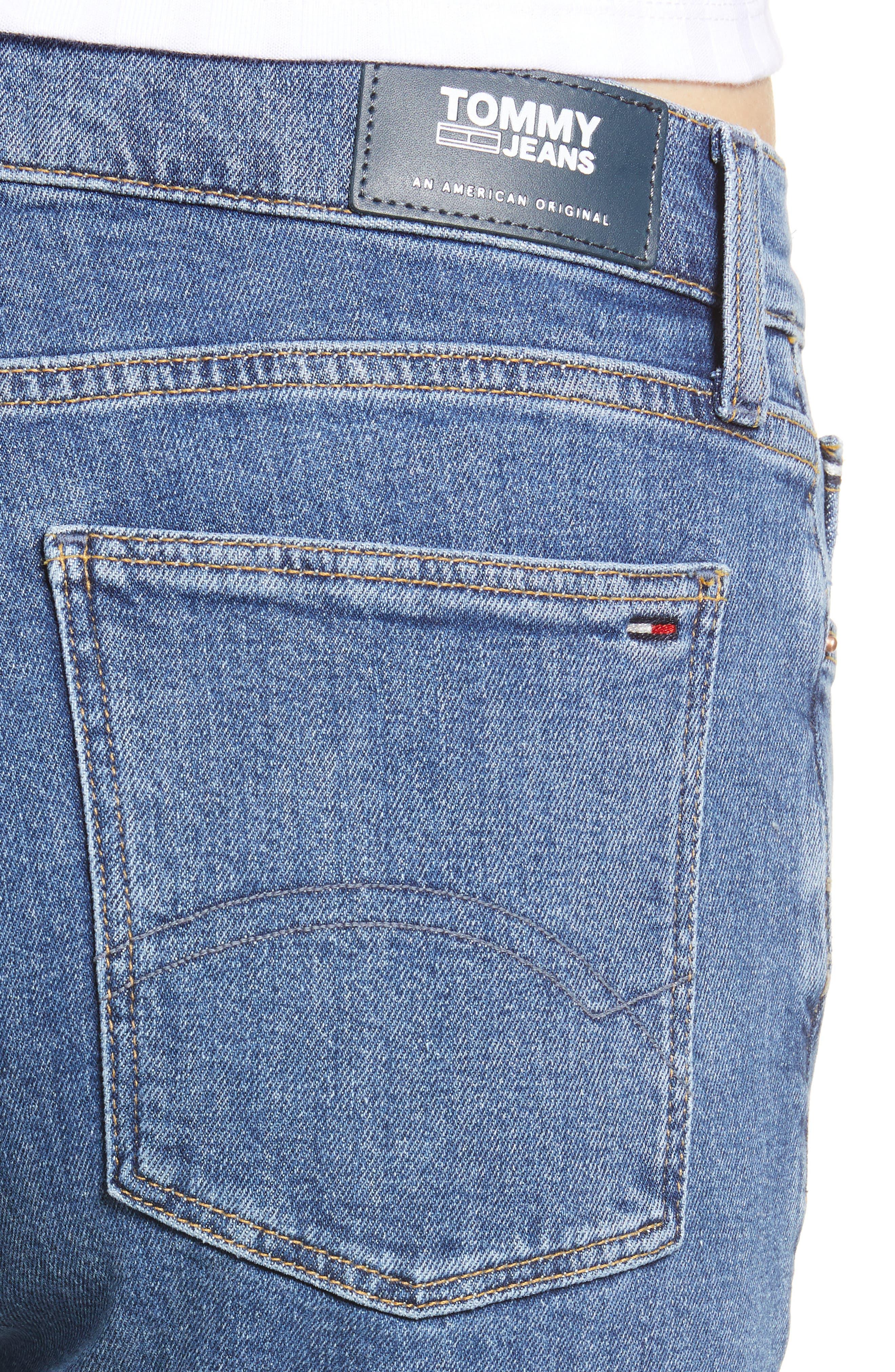 Izzy High Rise Center Seam Slim Jeans,                             Alternate thumbnail 4, color,                             400