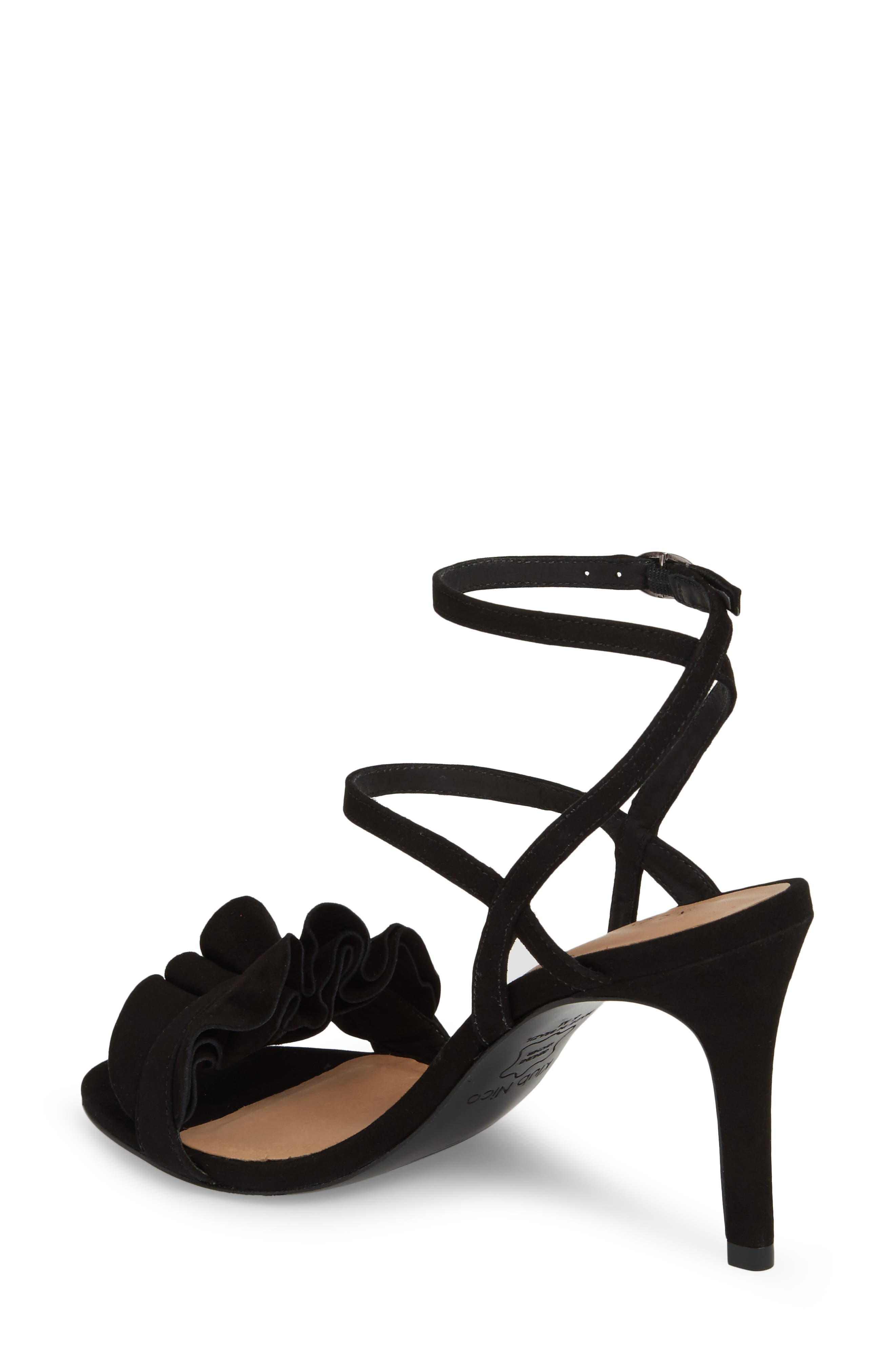 Ansley Sandal,                             Alternate thumbnail 2, color,                             BLACK SUEDE