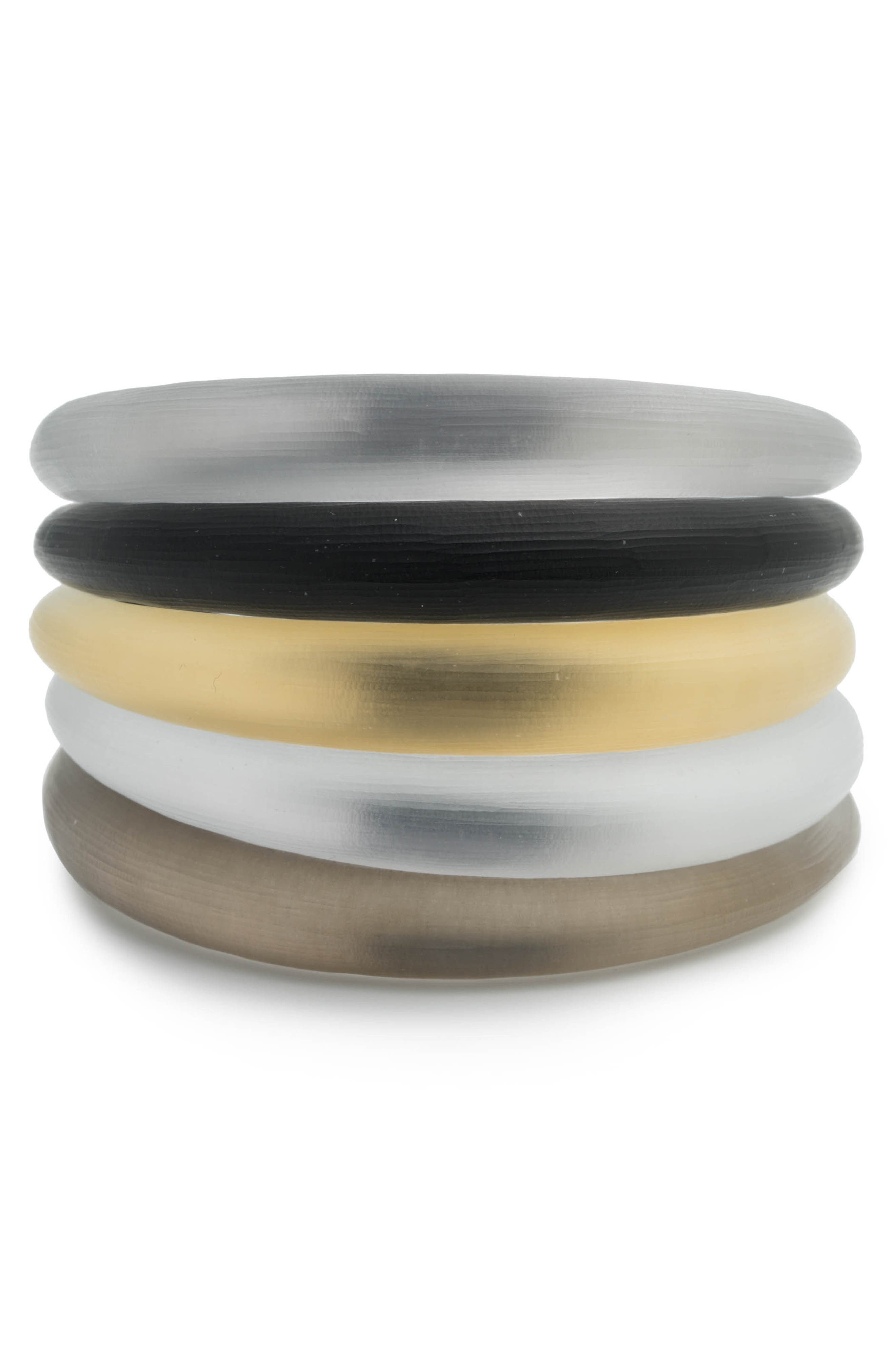 Lucite<sup>®</sup> Set of 5 Tapered Bangles,                             Main thumbnail 1, color,                             009