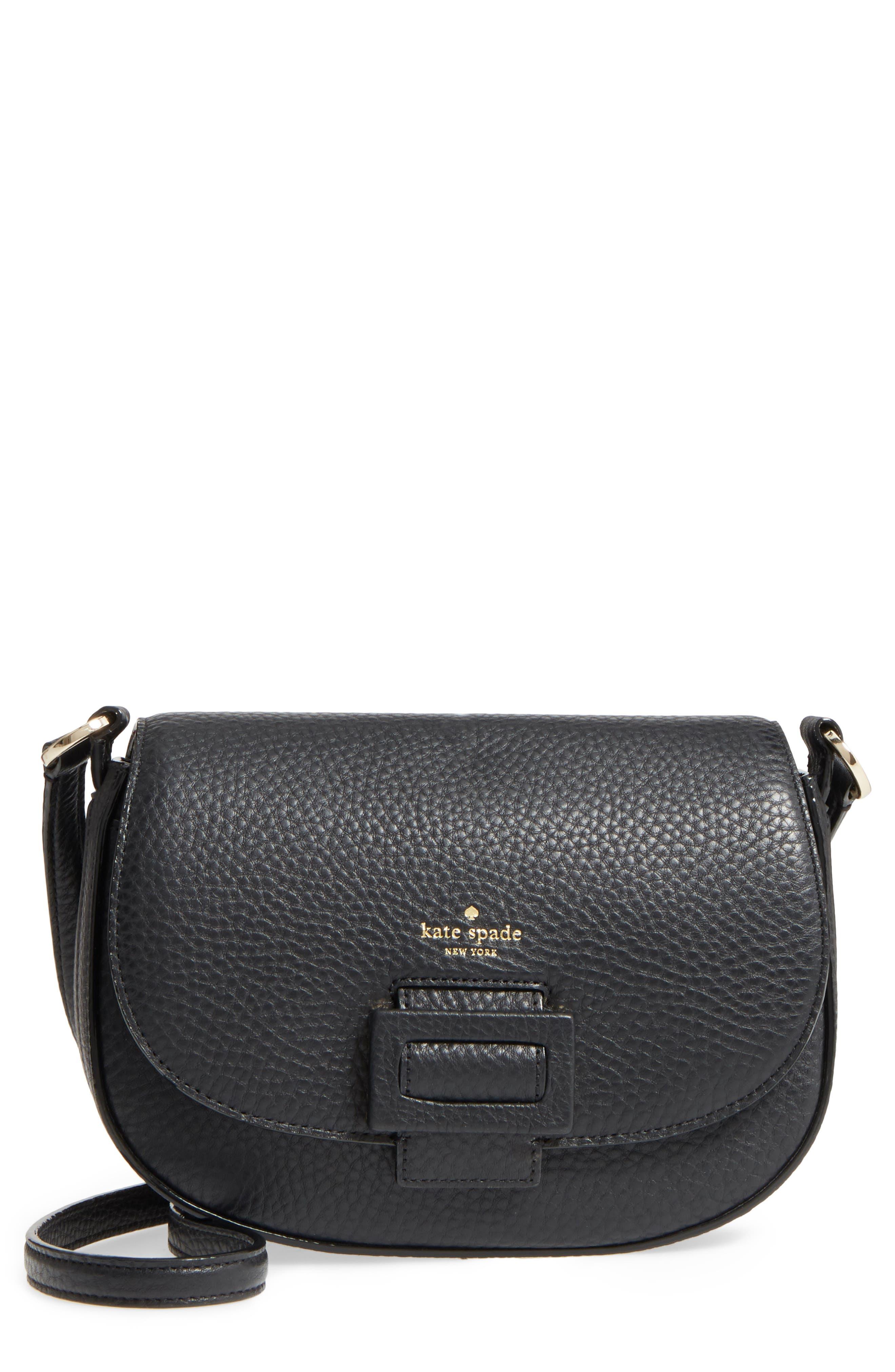 carlyle street - kallie leather saddle bag,                         Main,                         color,