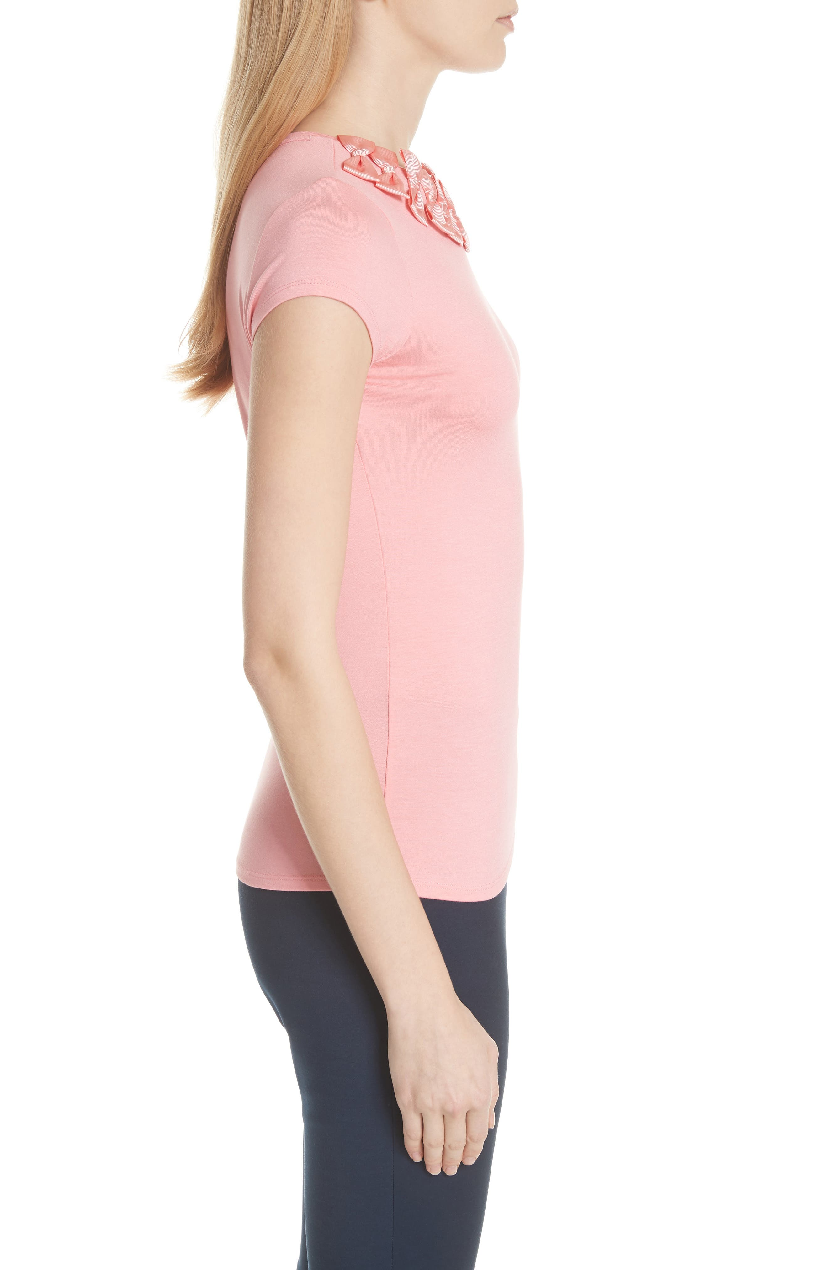 Ted Baker Bow Trim Tee,                             Alternate thumbnail 6, color,