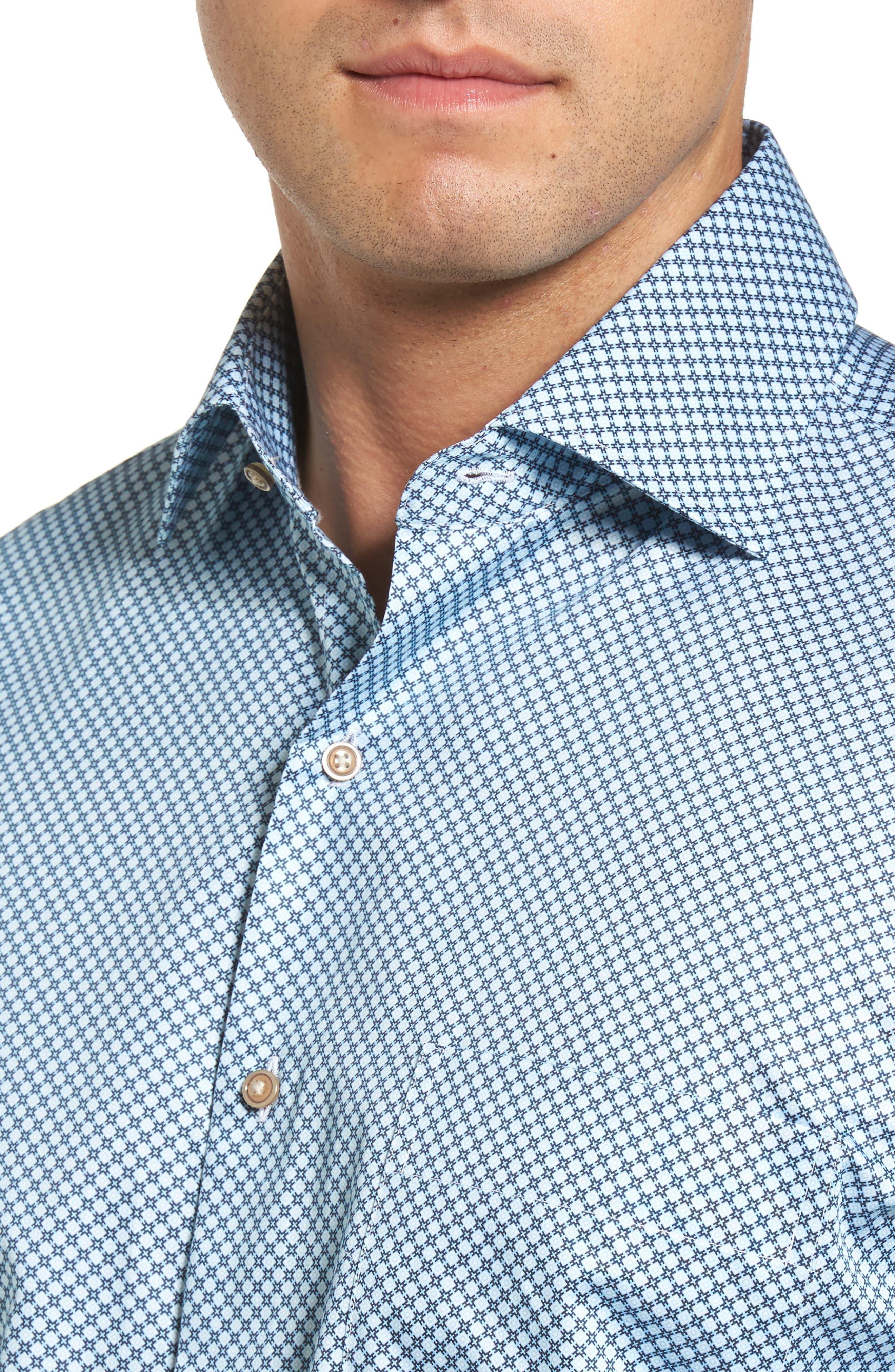 Pandora's Box Regular Fit Sport Shirt,                             Alternate thumbnail 4, color,                             437