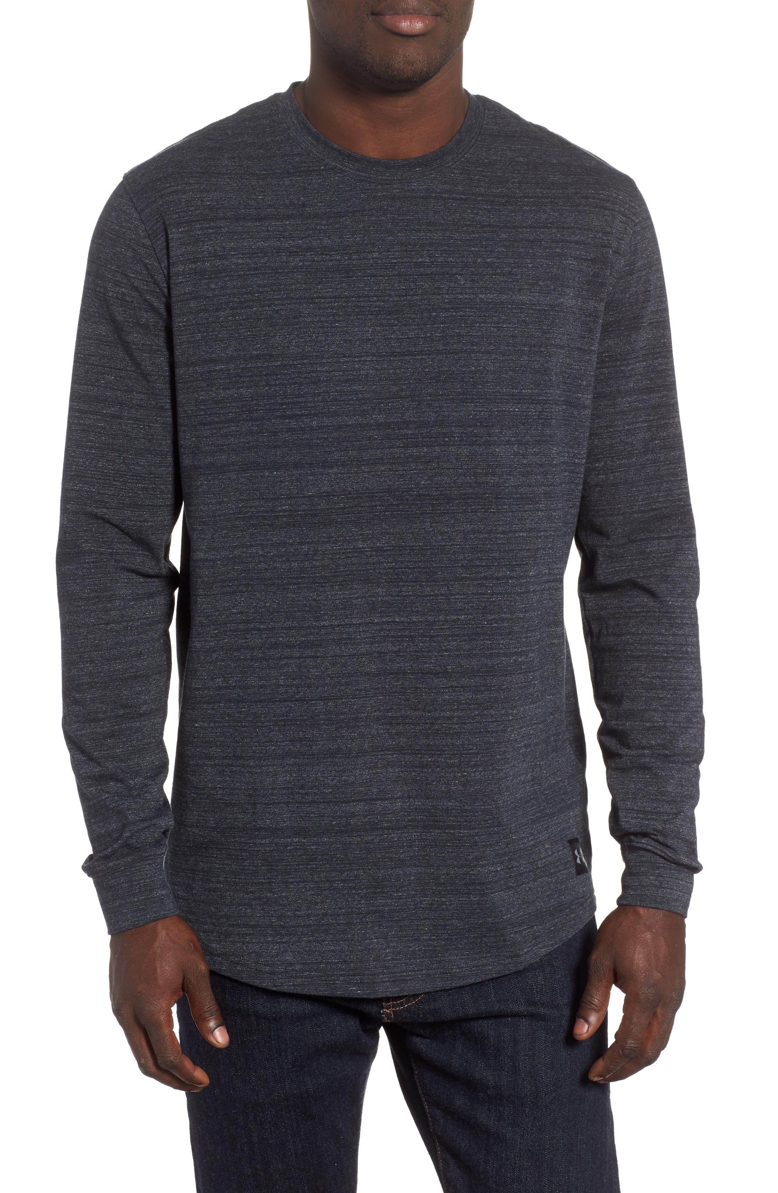 Sportstyle Long Sleeve Performance T-Shirt,                             Main thumbnail 1, color,                             BLACK/ STEEL