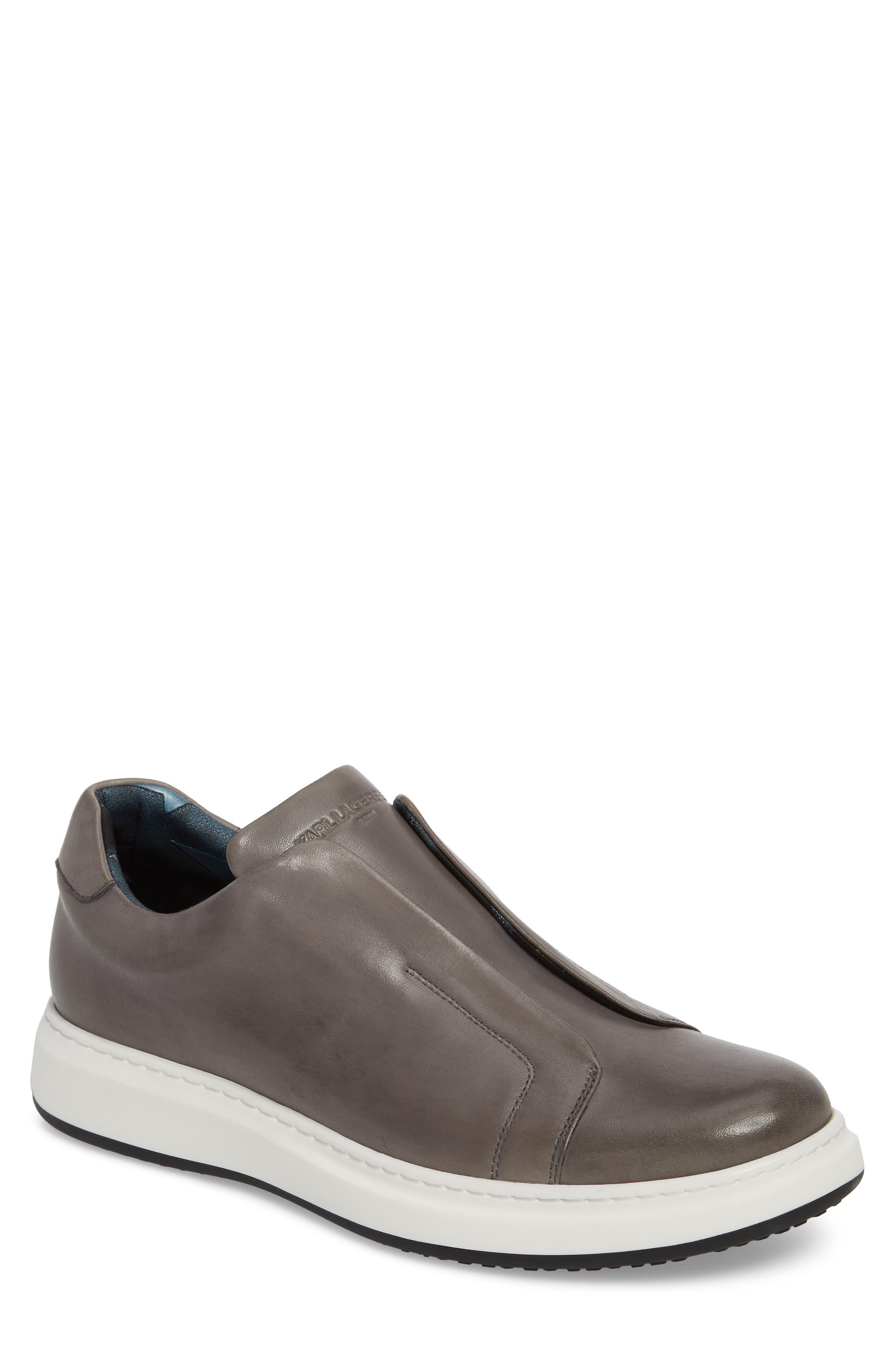 Laceless Sneaker,                             Main thumbnail 1, color,                             GREY