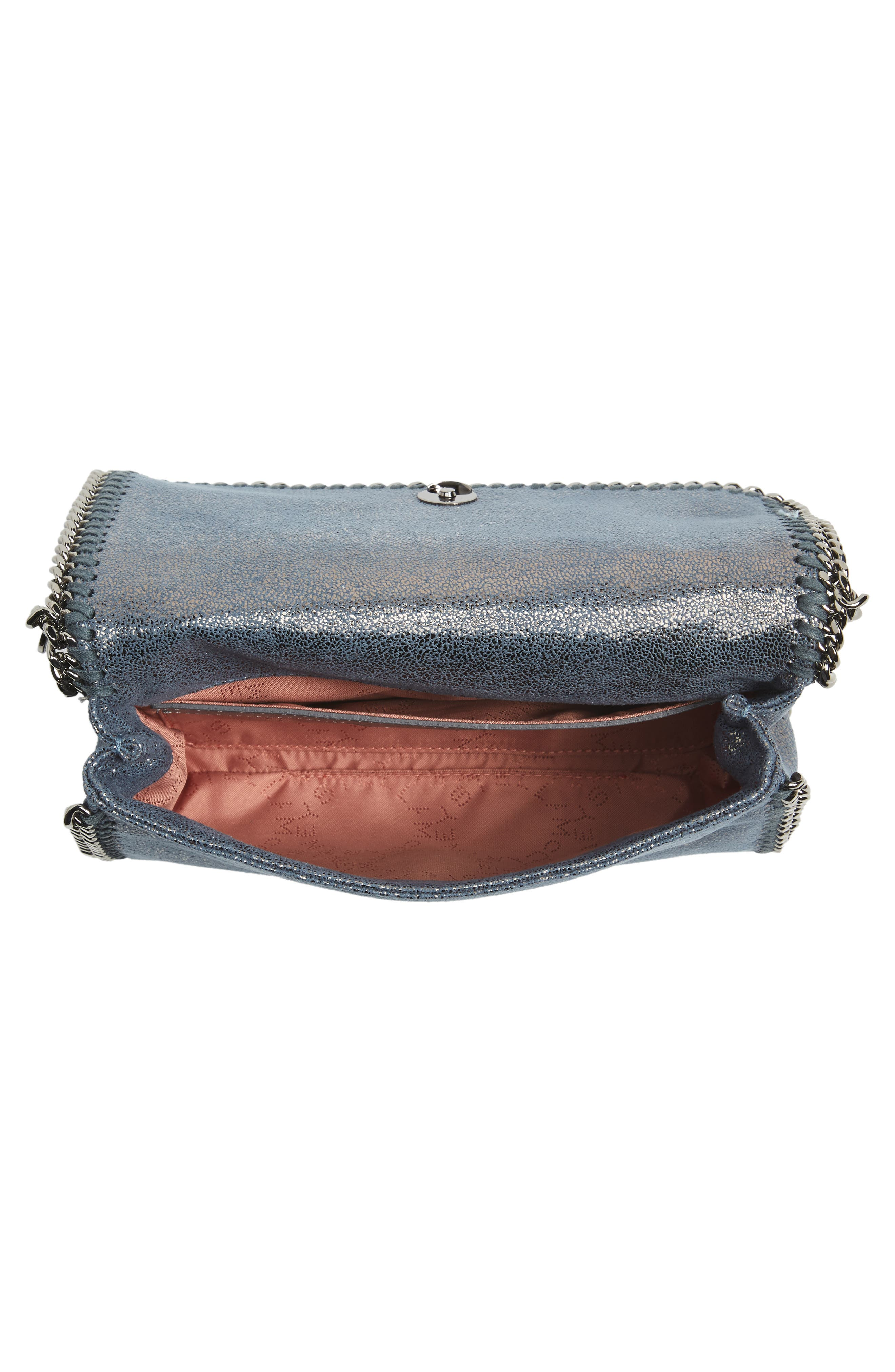 Falabella Shaggy Deer Faux Leather Clutch,                             Alternate thumbnail 4, color,                             400