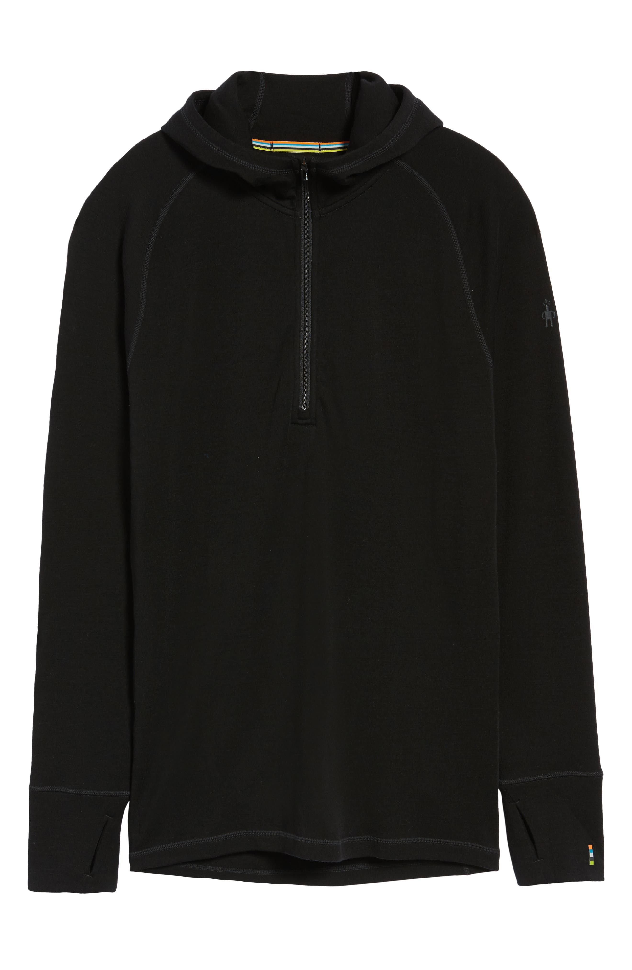Merino 250 Base Layer Hooded Pullover,                             Alternate thumbnail 6, color,                             001