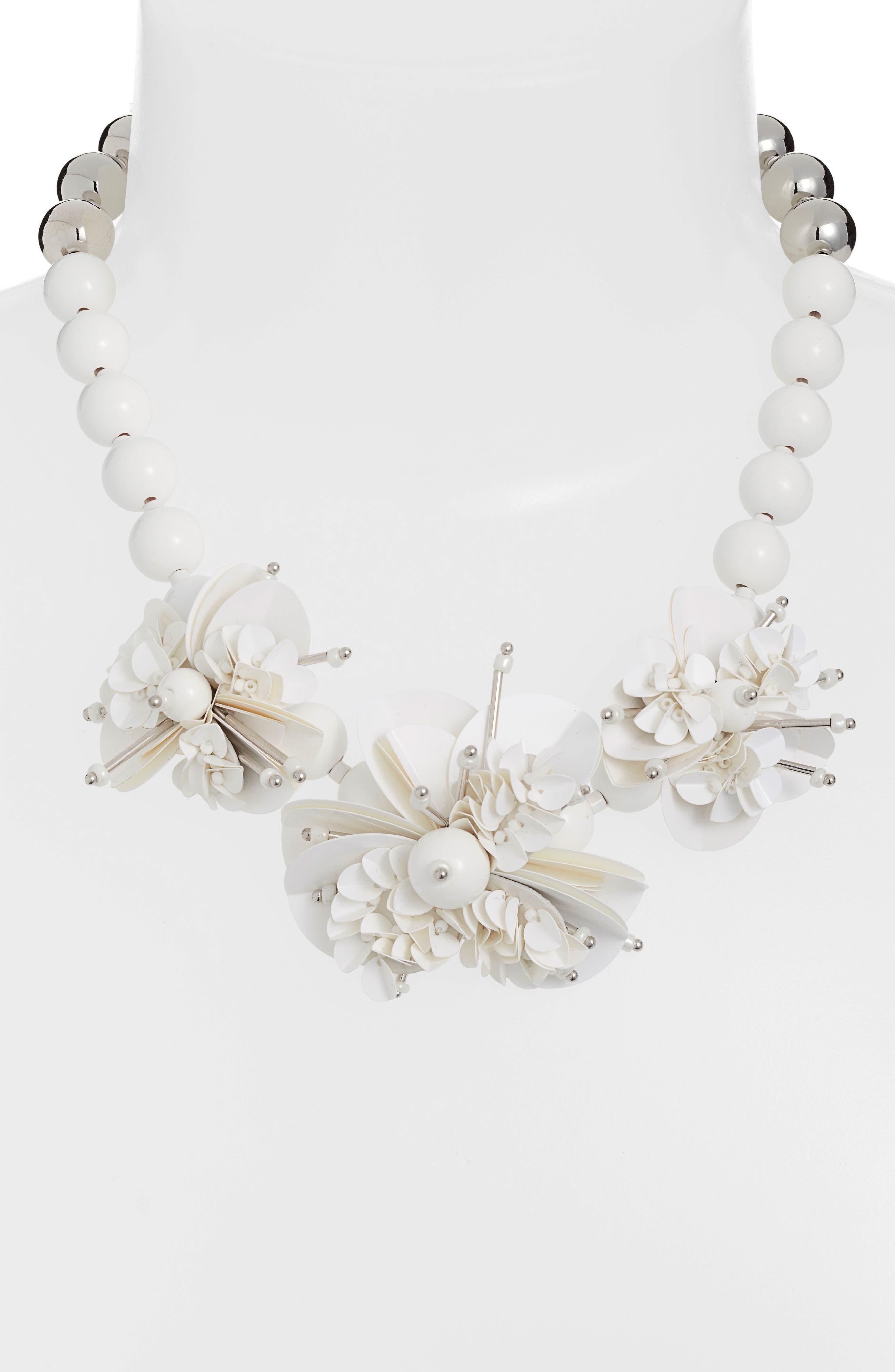 KATE SPADE NEW YORK,                             vibrant life statement necklace,                             Alternate thumbnail 2, color,                             WHITE MULTI