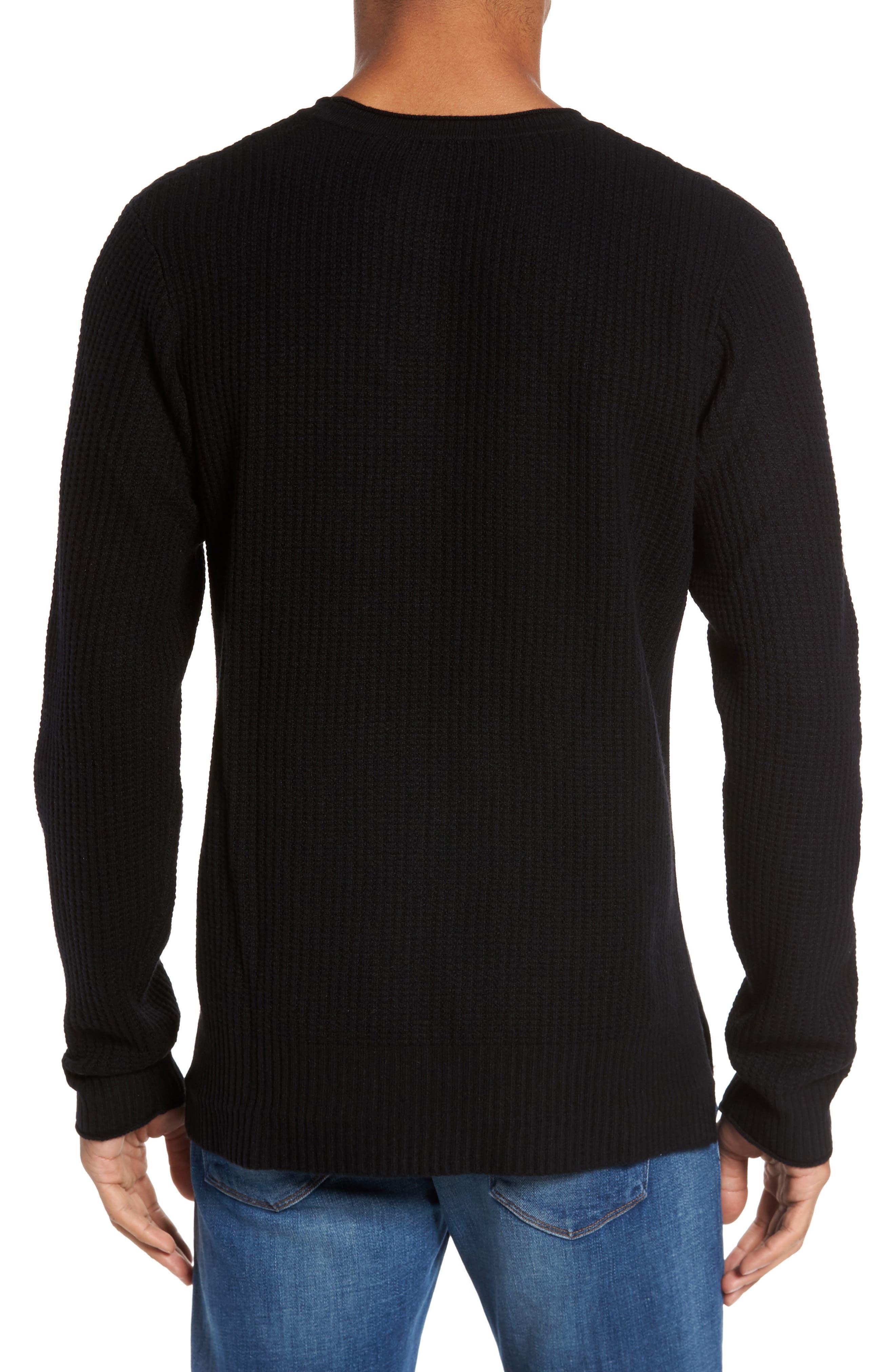 Deklyn Slim Fit Merino & Cashmere Sweatshirt,                             Alternate thumbnail 2, color,                             001