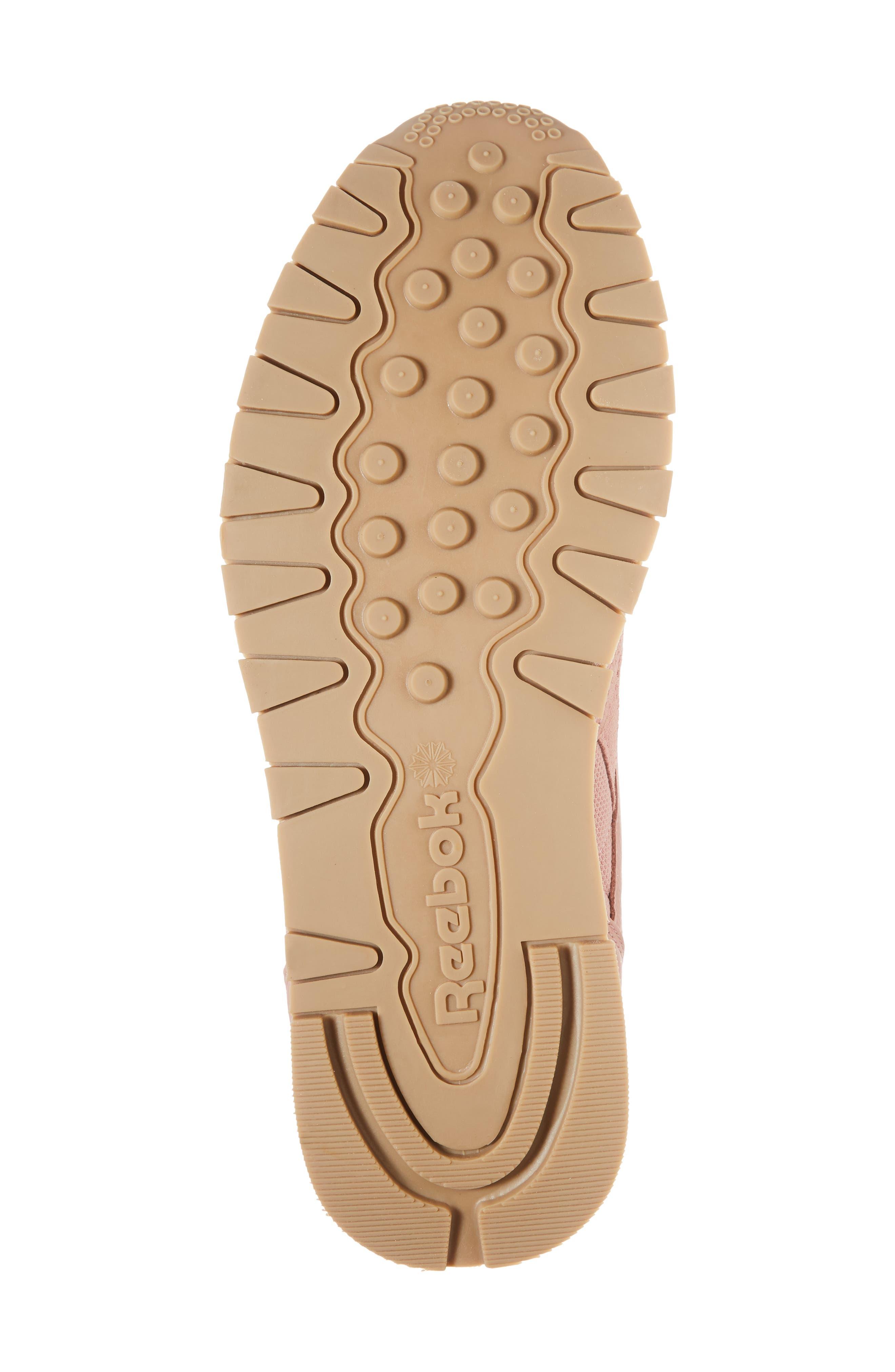 ESTL Classic Leather Sneaker,                             Alternate thumbnail 6, color,                             CHALK PINK/ WHITE