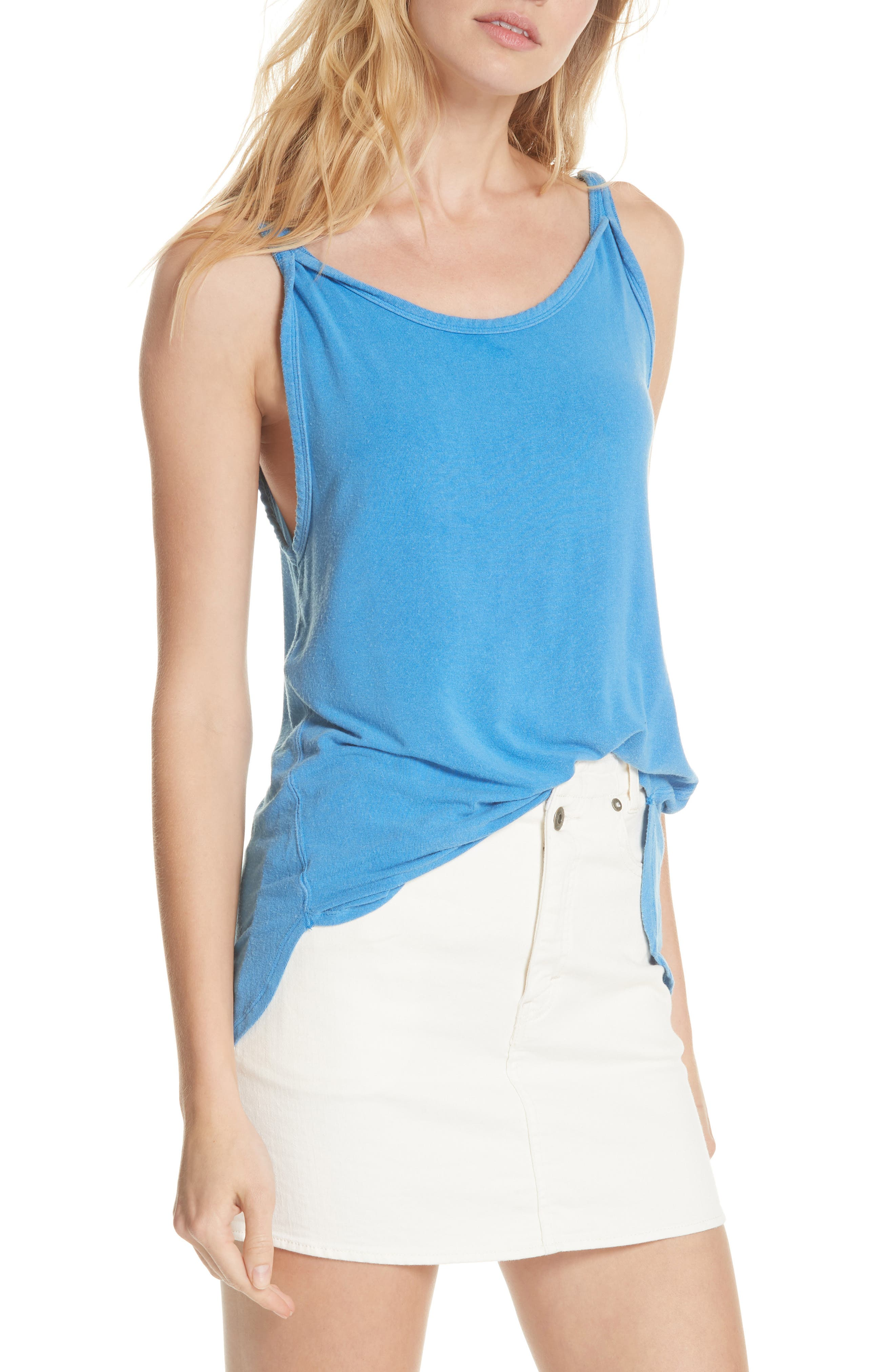 We the Free by Free People Atlantic Tank,                             Main thumbnail 1, color,                             BLUE
