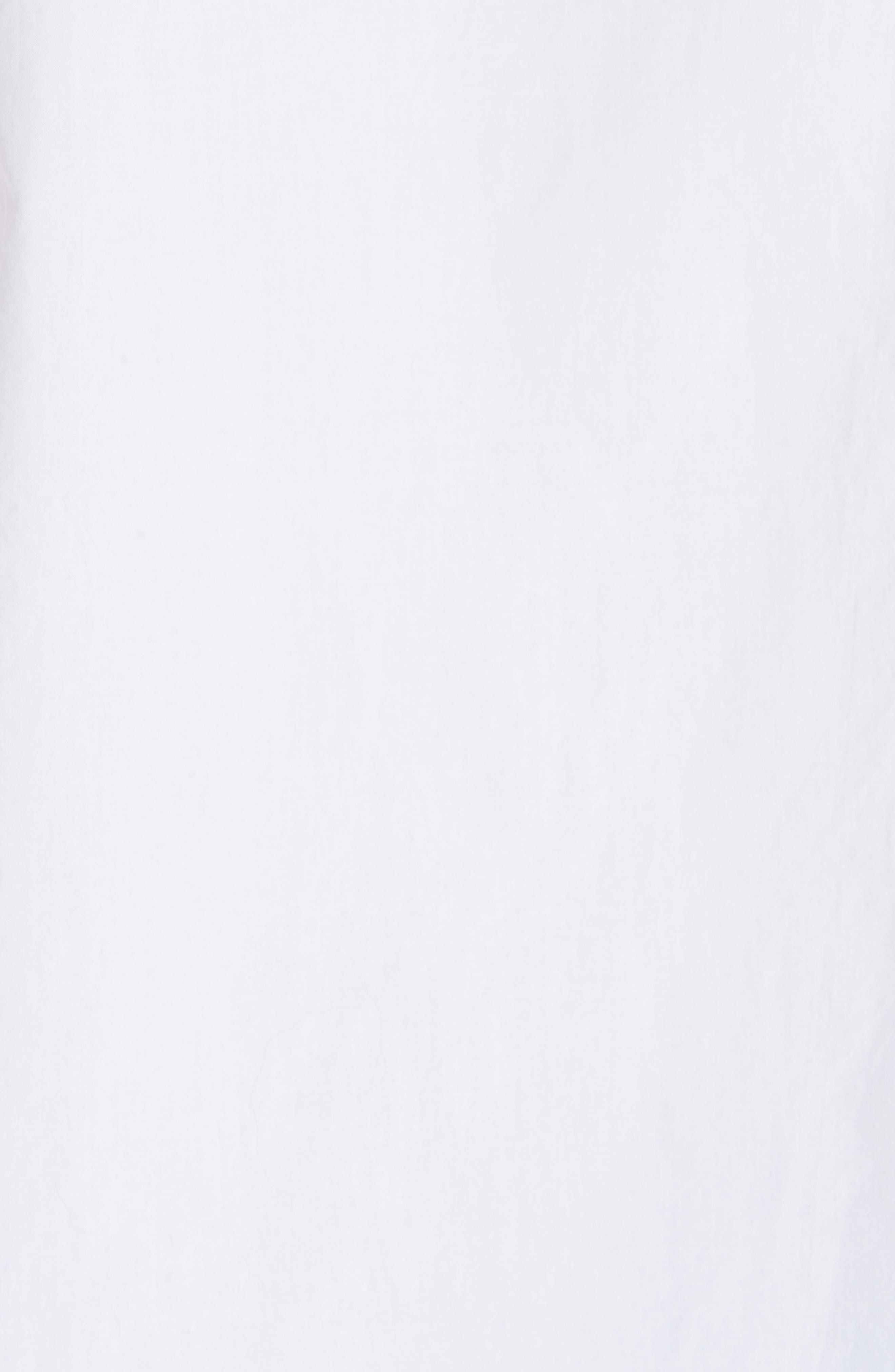 Cotton Poplin Shirt,                             Alternate thumbnail 6, color,                             BRIGHT WHITE 151