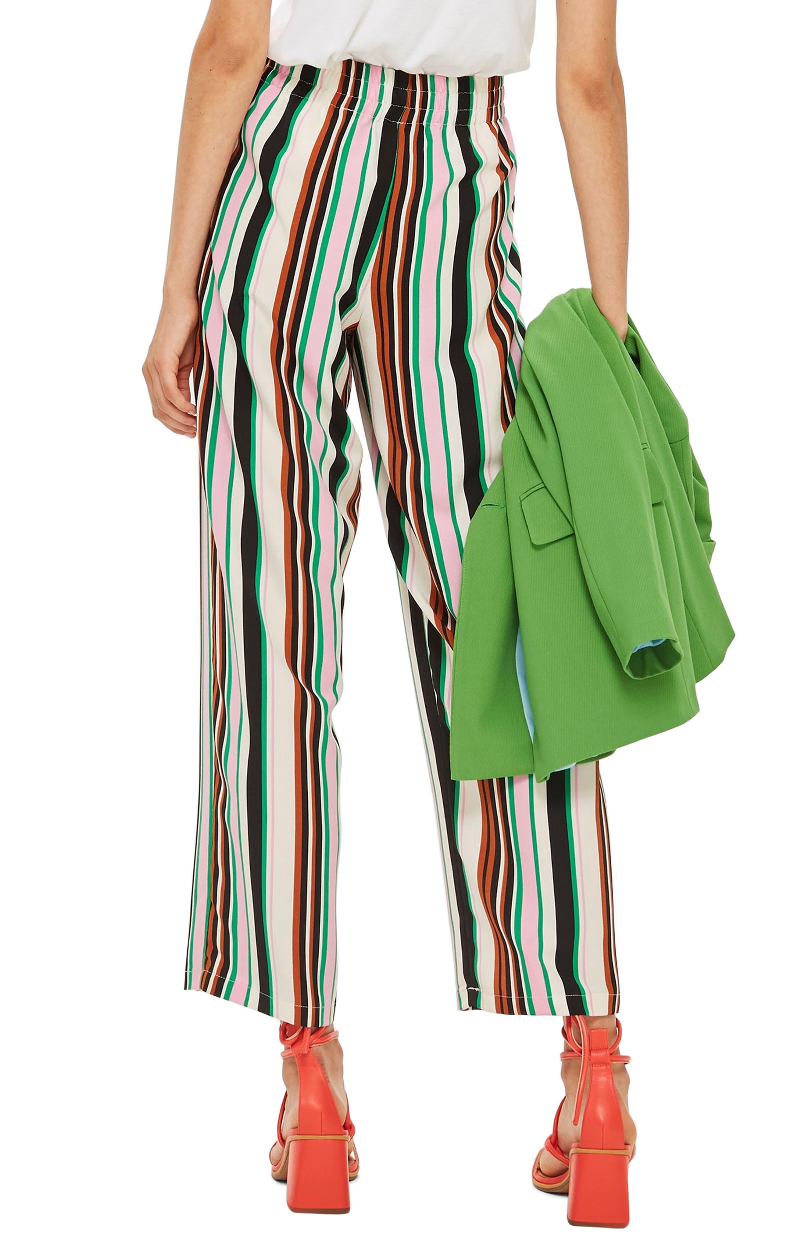 Stripe Slouch Pants,                             Alternate thumbnail 2, color,                             IVORY MULTI